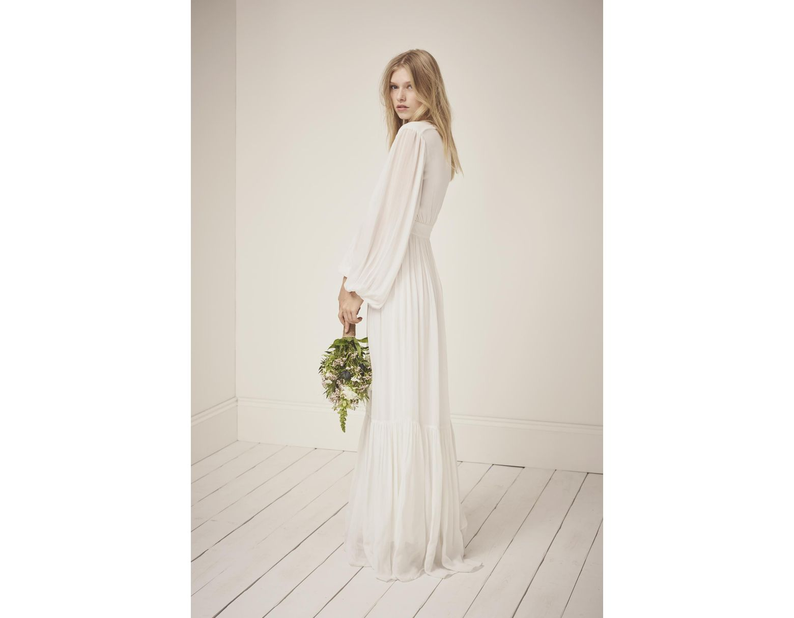 325b8c809b3e French Connection Cari Sparkle Maxi Wedding Dress in White - Lyst