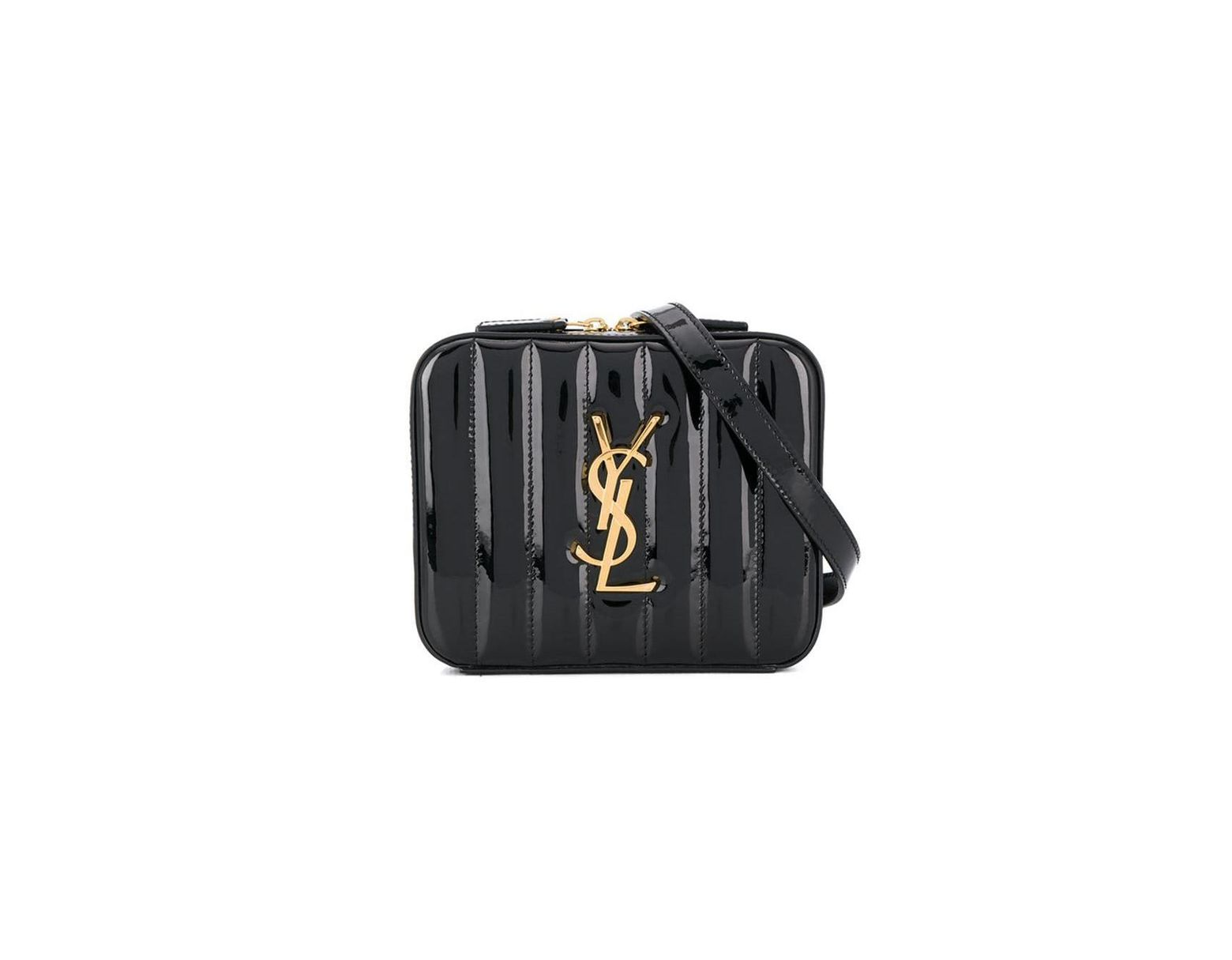 319ce1bb35b Saint Laurent Ysl Vicky Belt Bag In Quilted Patent Leather in Black - Save  2% - Lyst