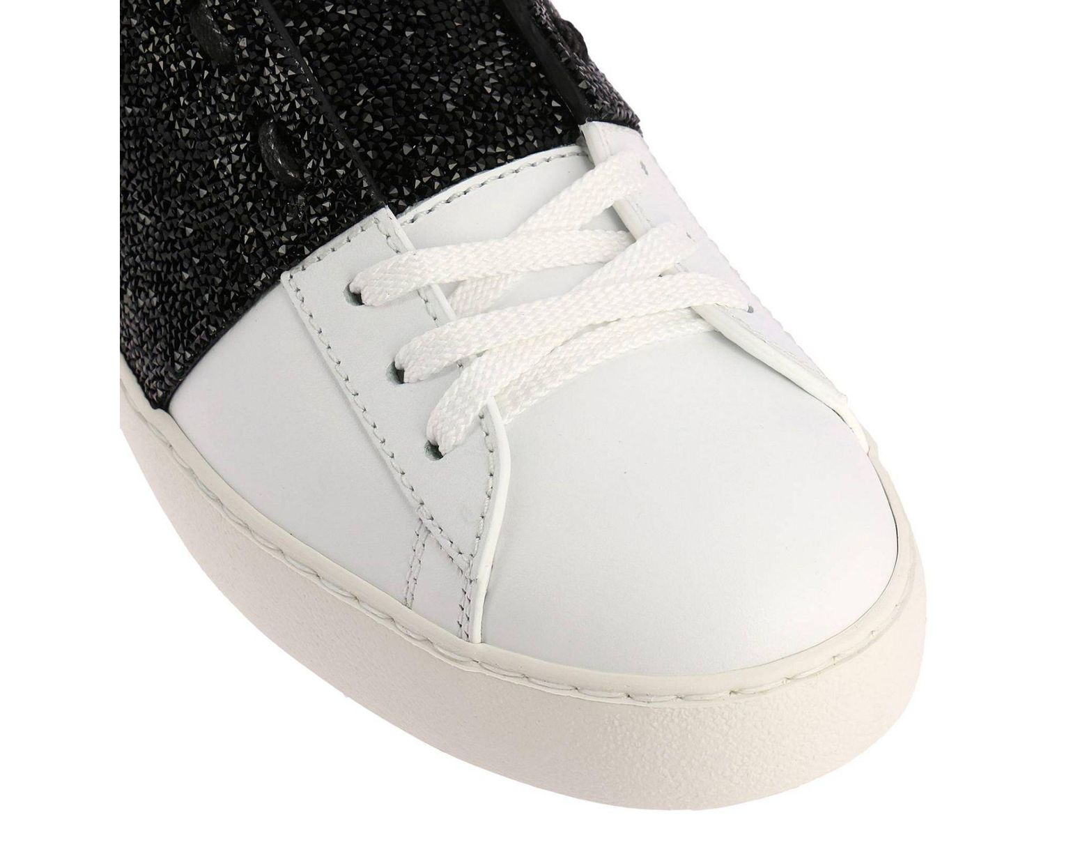 9f1bb90ba225b Women's Valentino Rockstud Sneakers Open With Maxi Tone-on-tone Studs And  Crystal Rock Band