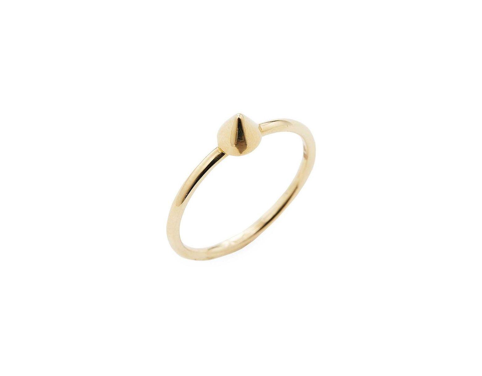 1d352d0b6b207 Sydney Evan Gold Spike Size 6.5 Ring in Metallic - Save 54% - Lyst
