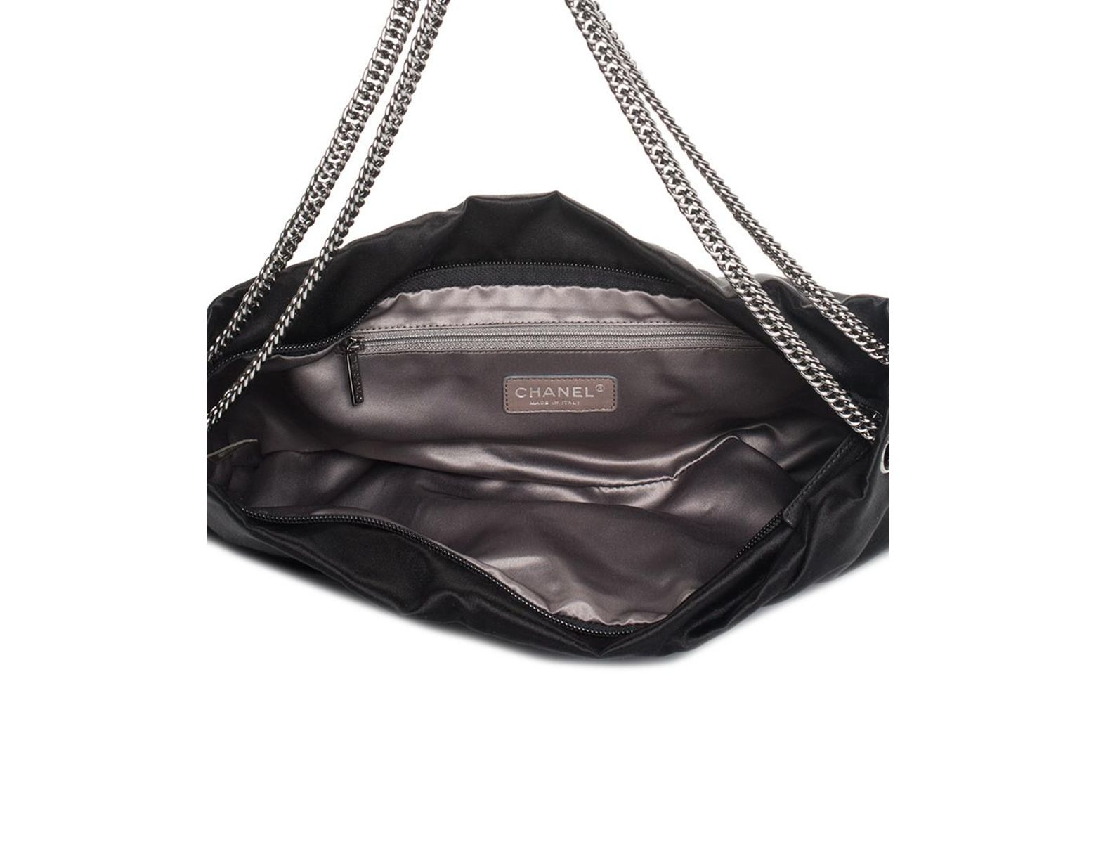 9ddafd2f28 Chanel Limited Edition Black Quilted Satin Runway Xl Maxi Bag, Never  Carried in Black - Save 4% - Lyst