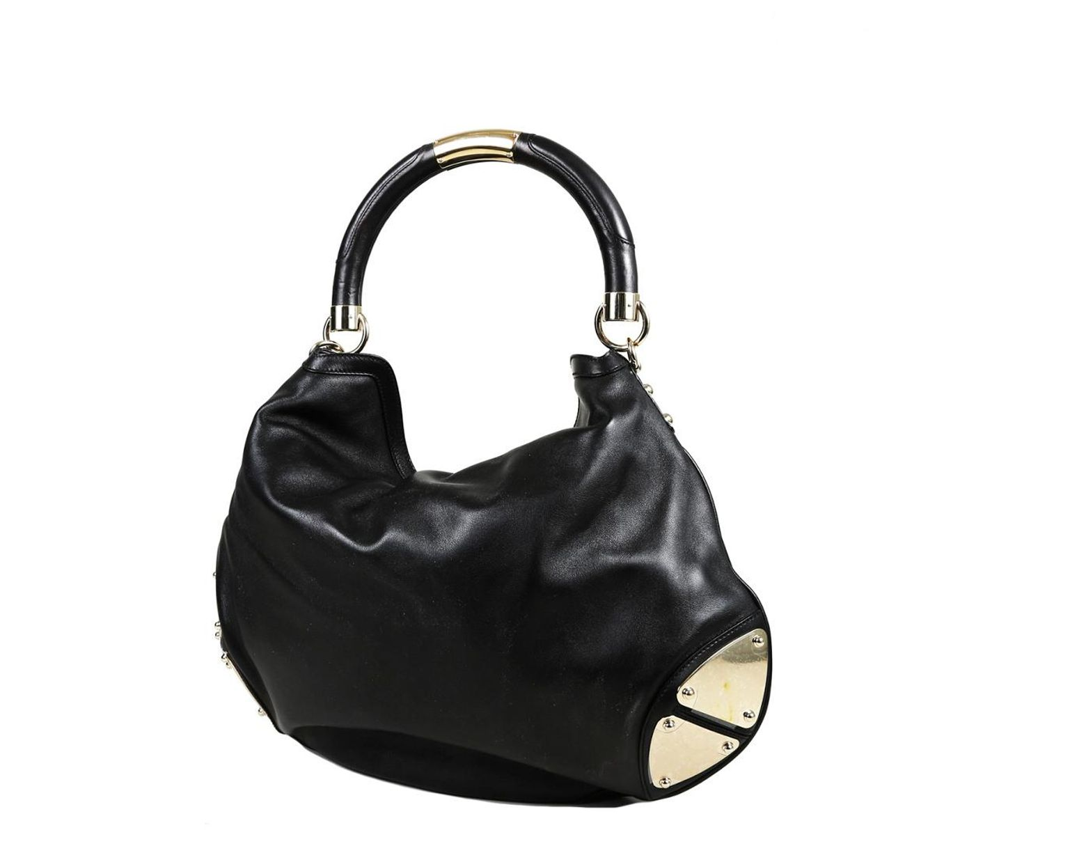 587743b0a06 Gucci Black Leather Babouska Indy Hobo Bag in Black - Lyst