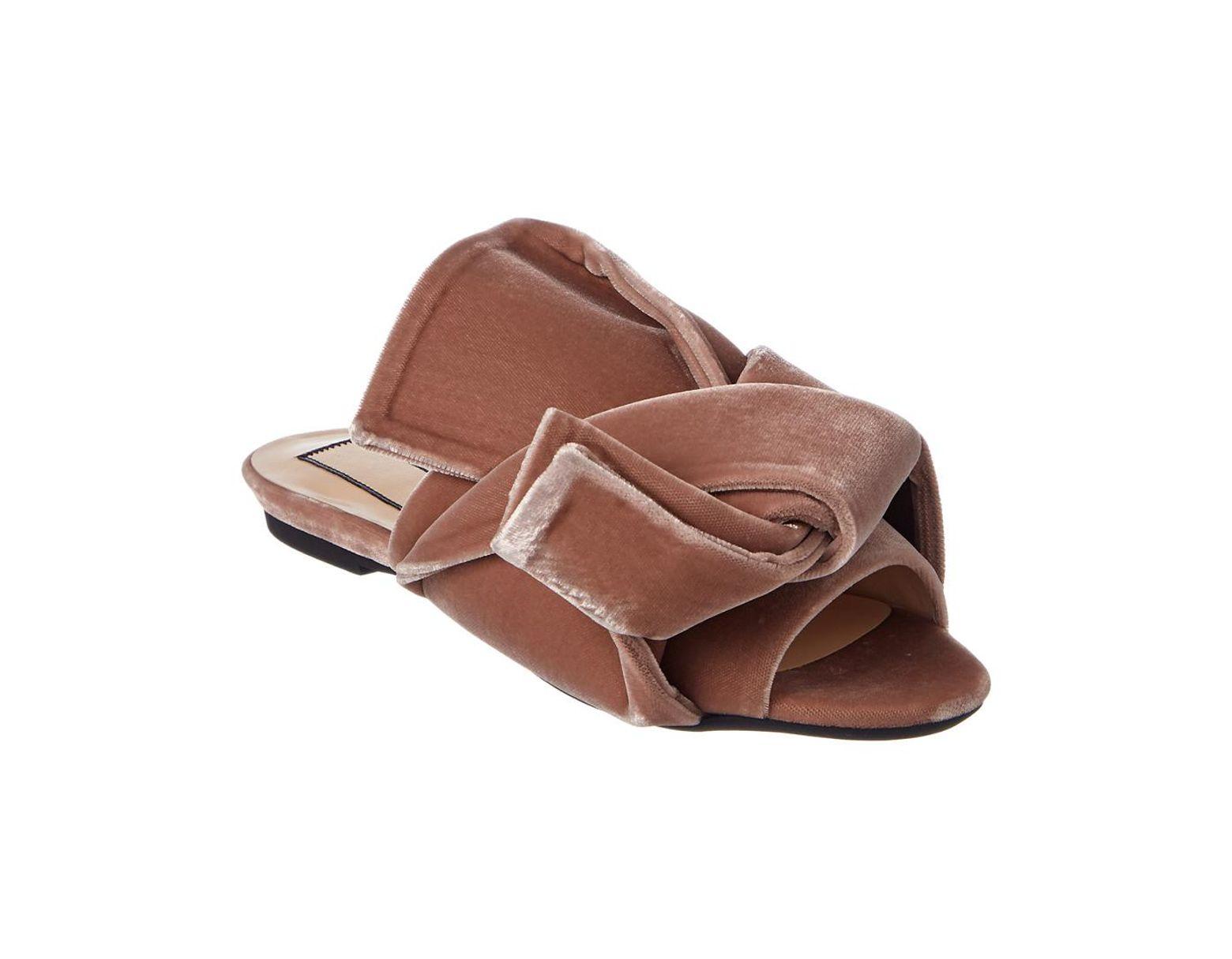b0f5c3a6563 Women's Pink N?21 Velvet Flat Bow Mule