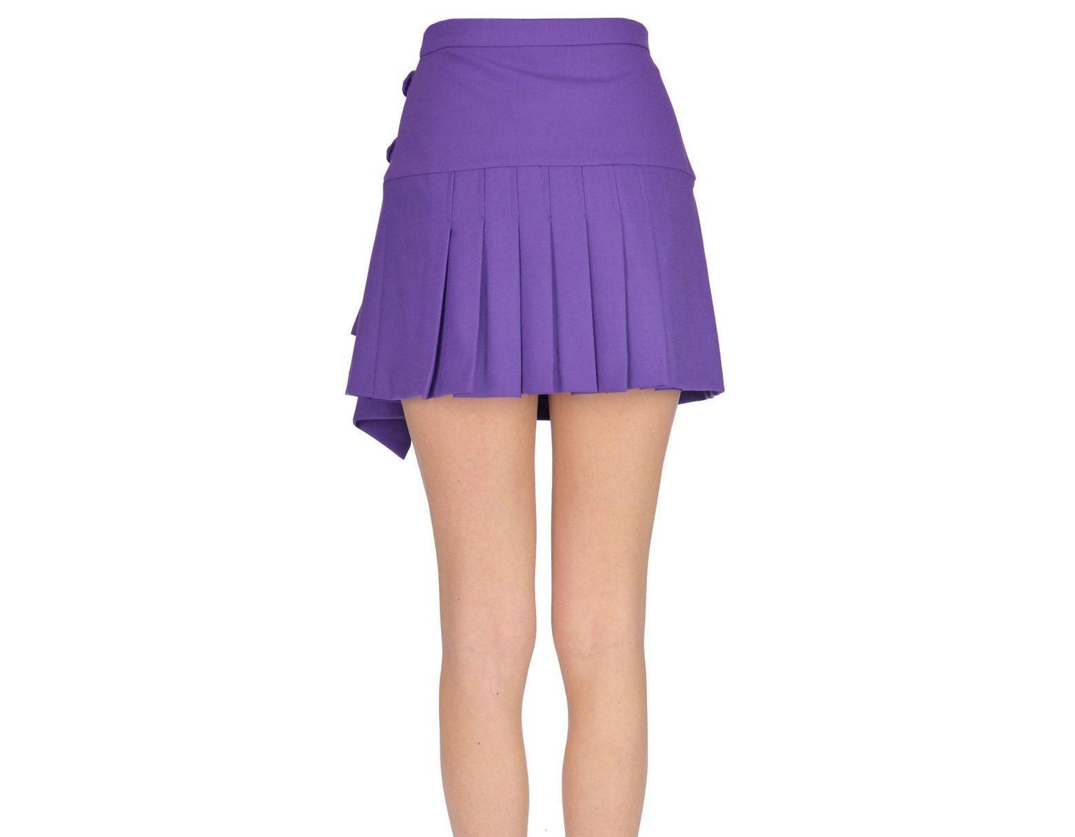 57904baedb Pinko Pleated Mini Skirt in Purple - Lyst