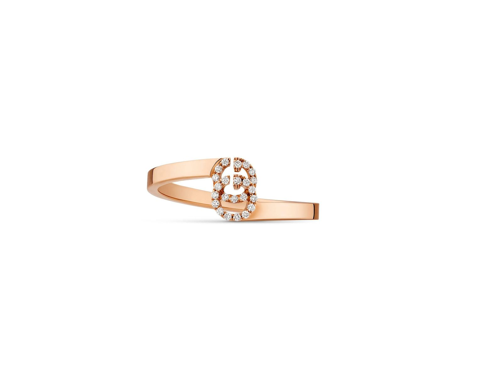 bdc3a08d5f Women's Metallic GG Ring In Rose Gold With Diamonds