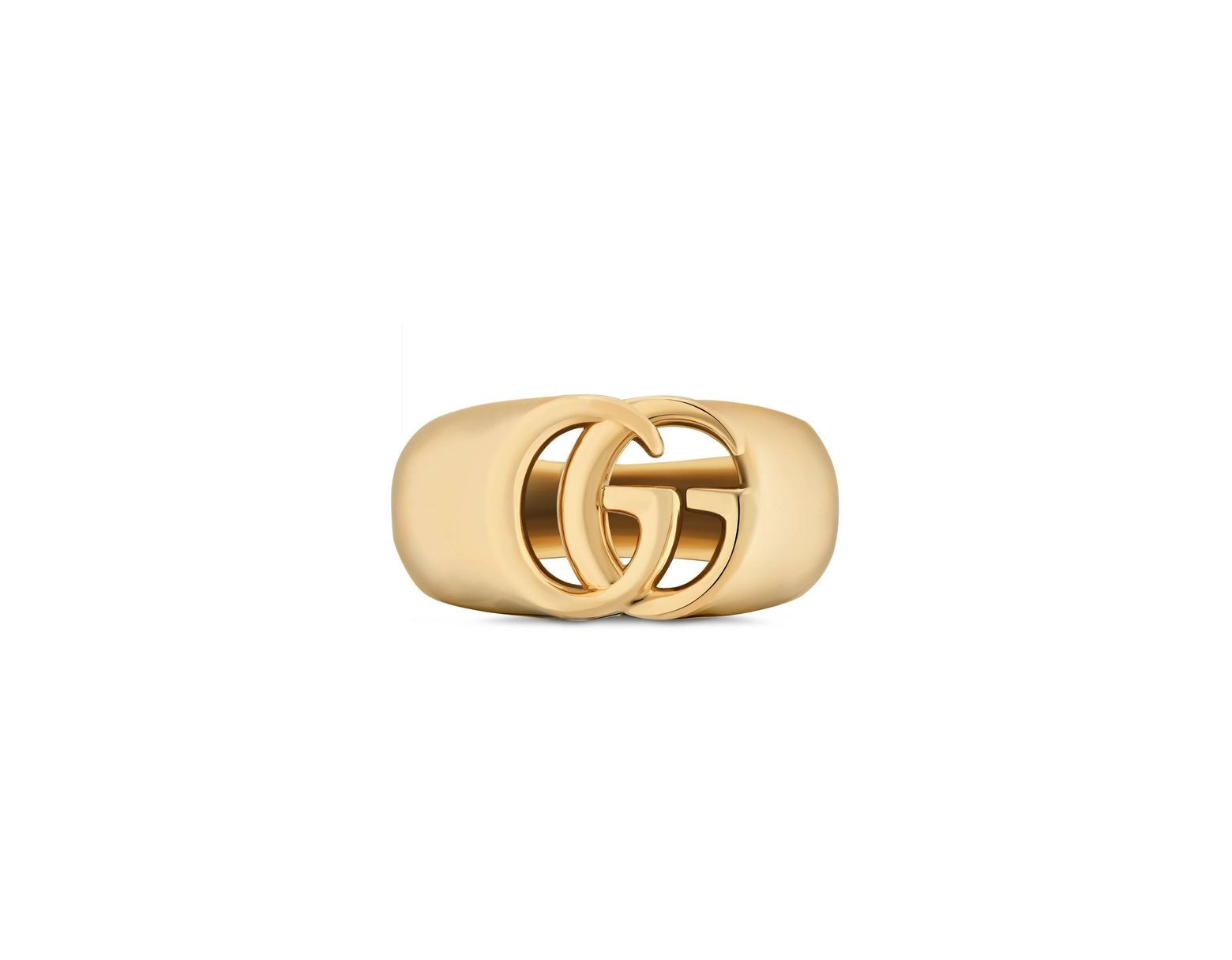 4b2e4c3928 Gucci GG Running Yellow Gold Chevalier Ring in Metallic - Lyst