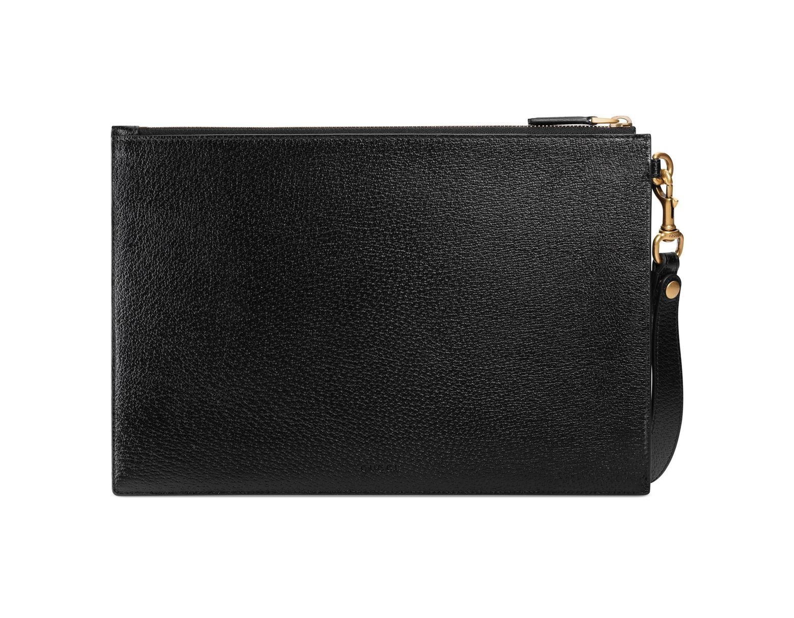 8a5f63f147 Men's Black GG Marmont Leather Pouch