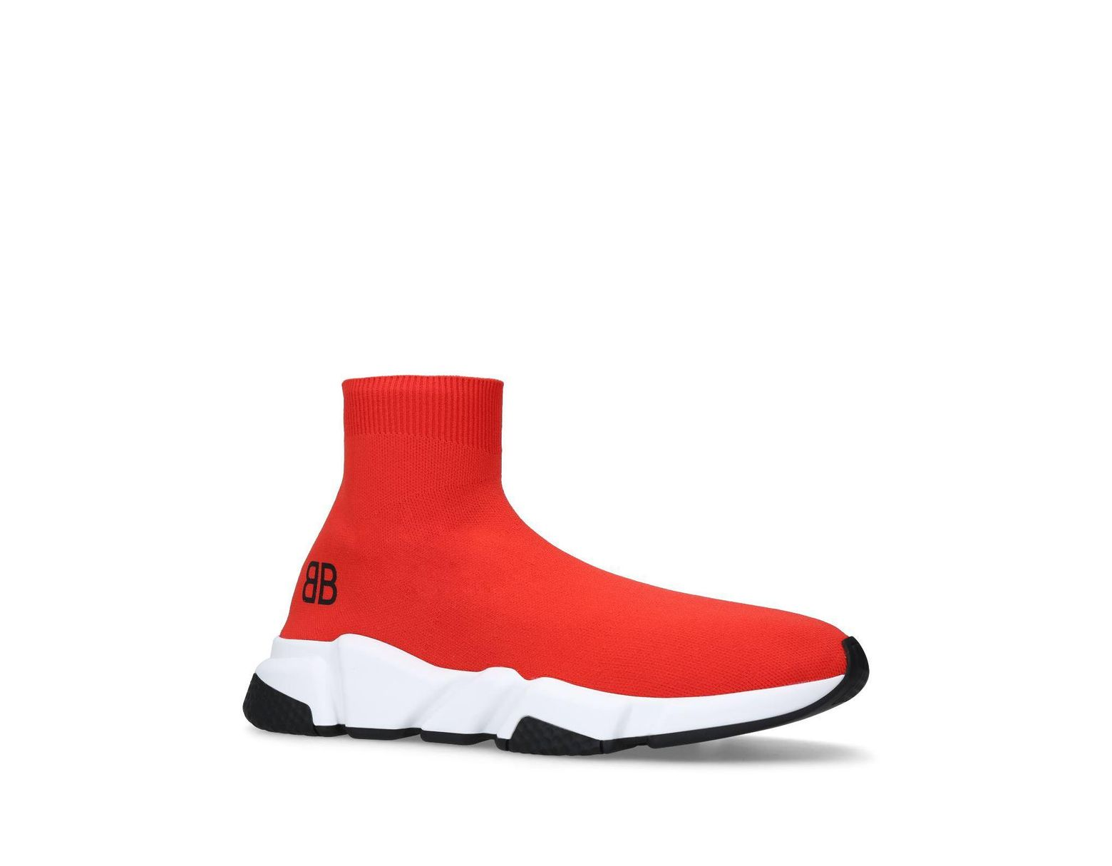 fd15725d80ff1 Balenciaga Speed Sock Trainers in Red for Men - Save 41% - Lyst