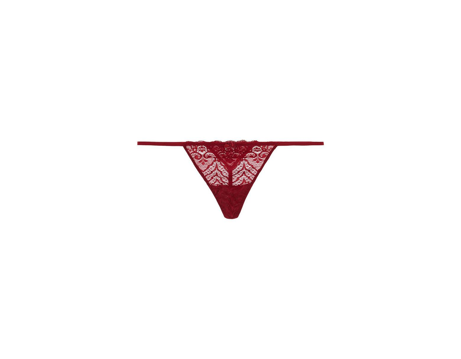 95f54210fdaf Intimissimi Lace G String in Red - Lyst