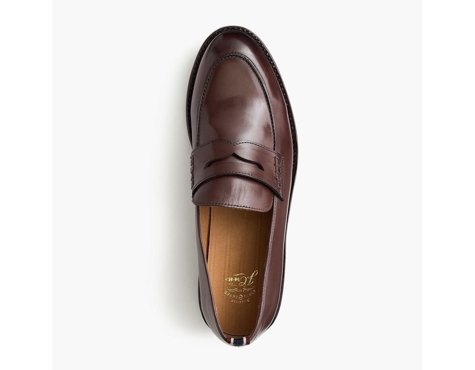 b2d4b8a9b3d44 J.Crew Oar Stripe Penny Loafers In Italian Leather in Brown for Men - Lyst