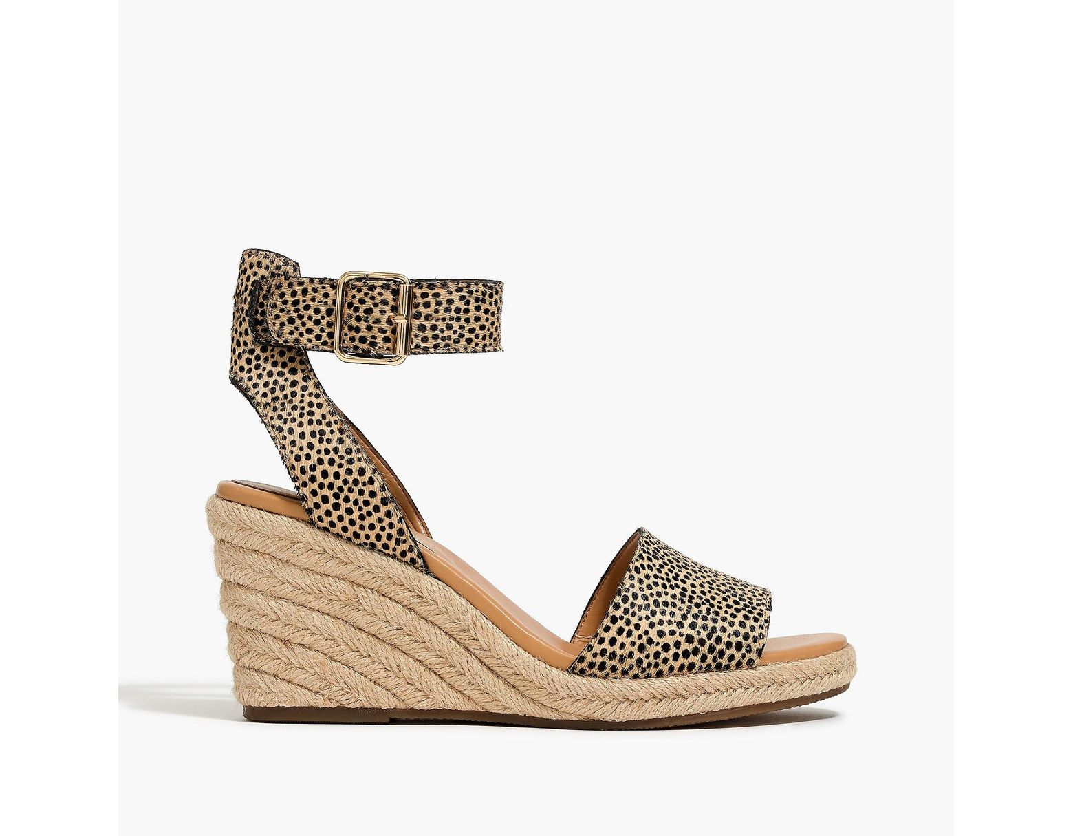 1b4954445c8 Women's Calf Hair Espadrille Wedge Sandals