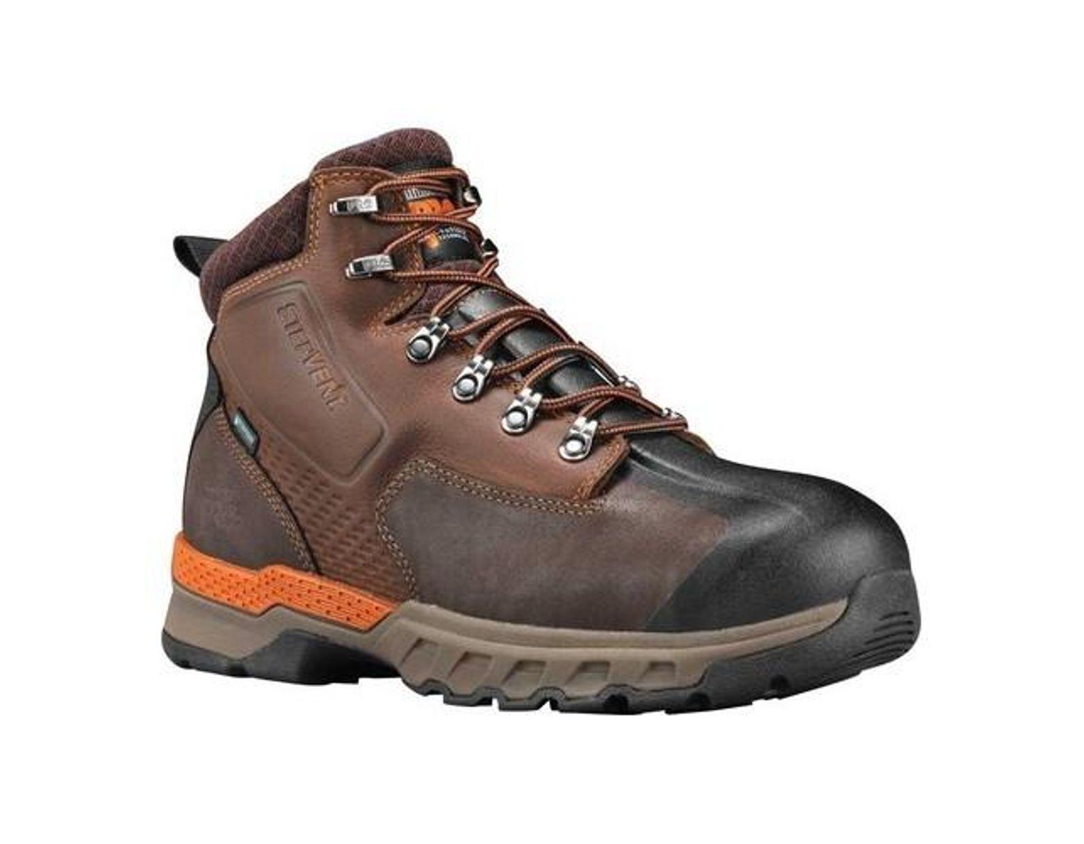 ea49ba01327 Men's Brown Pro 6' Downdraft Alloy Safety Toe Waterproof Boot
