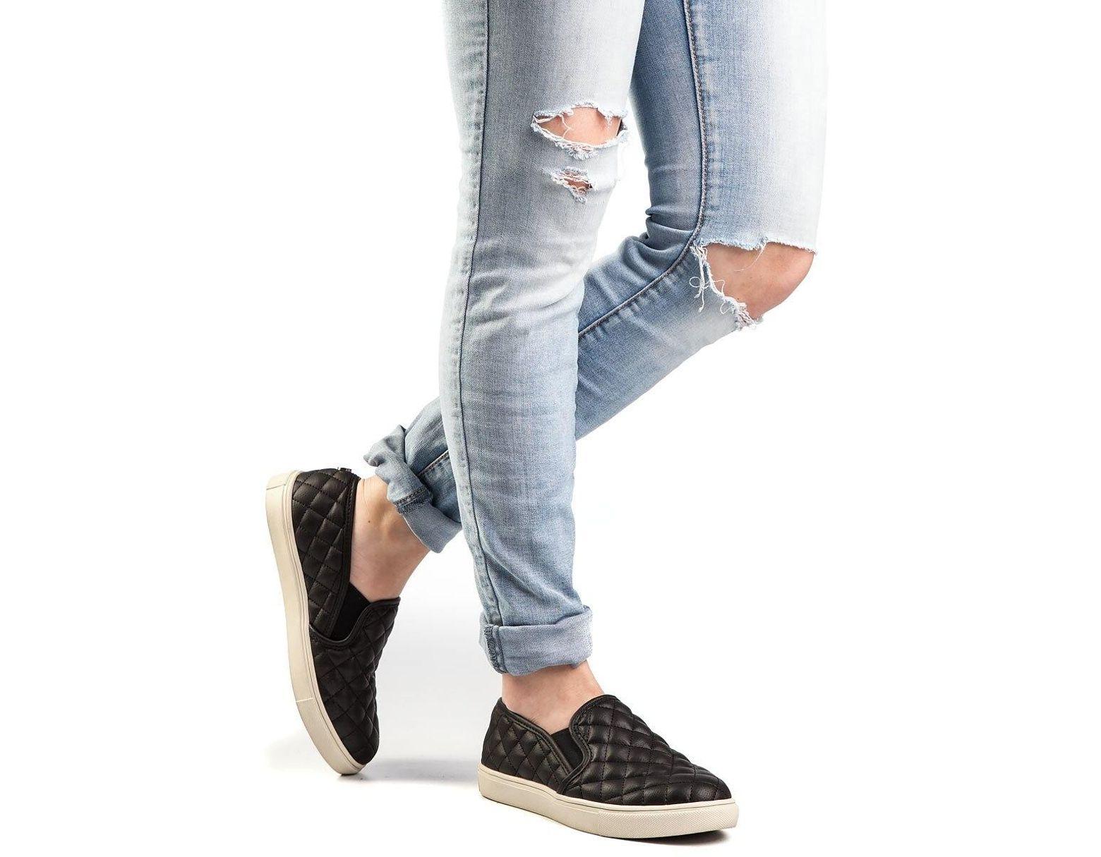 8dc87034a Steve Madden Ecentrcq Slip-on Sneaker Black in Black - Lyst