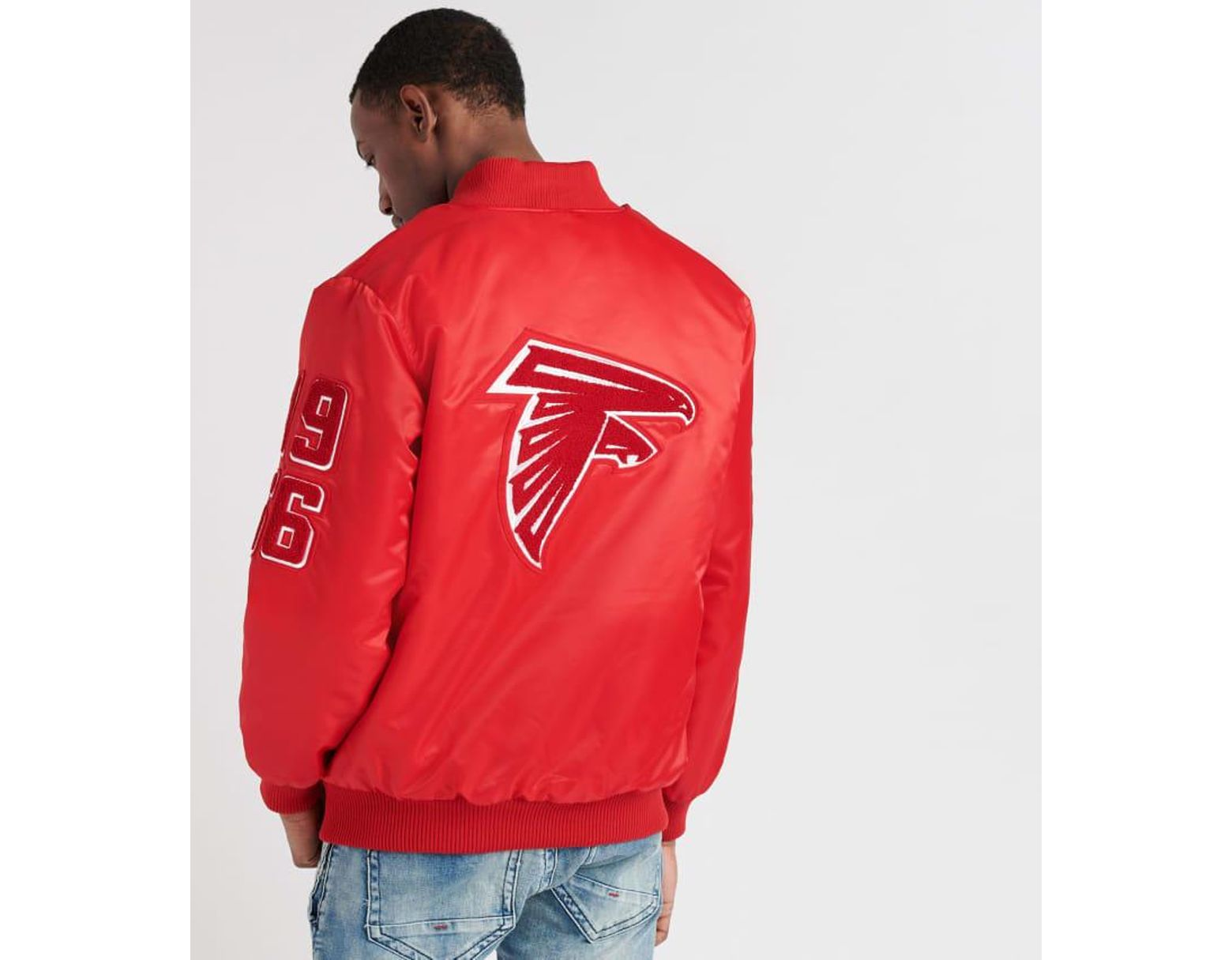4b9cc490 Men's Red Atl Falcons Chenille Patch Jacket