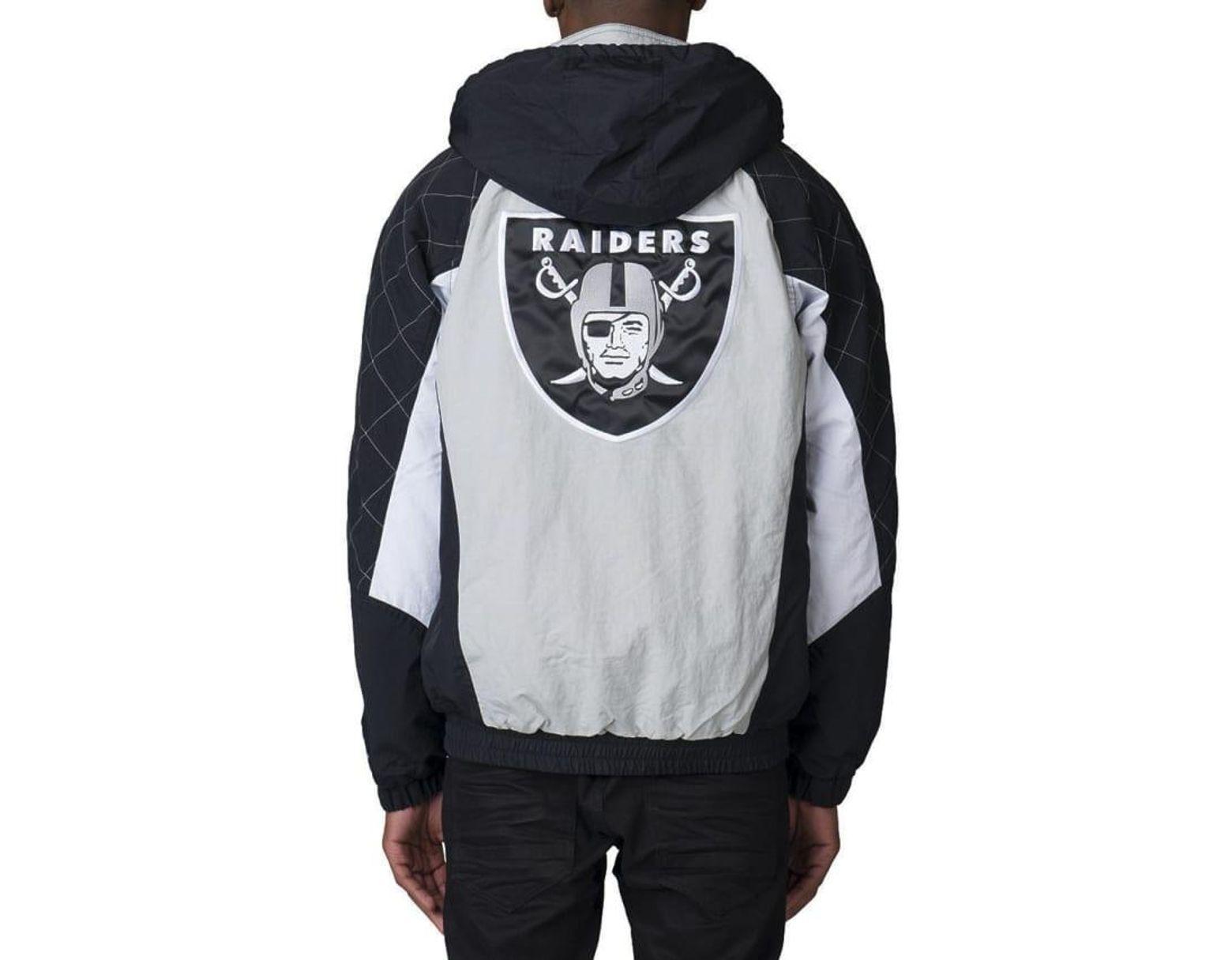 new style b76ac ece71 Men's Black Oakland Raiders Hooded Jacket