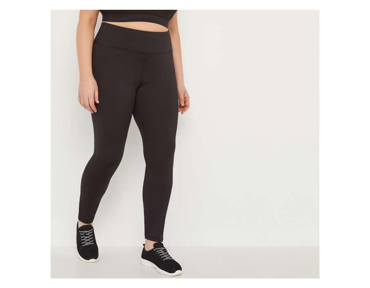 b1c38d878a524 Joe Fresh Women+ Active Legging in Black - Lyst