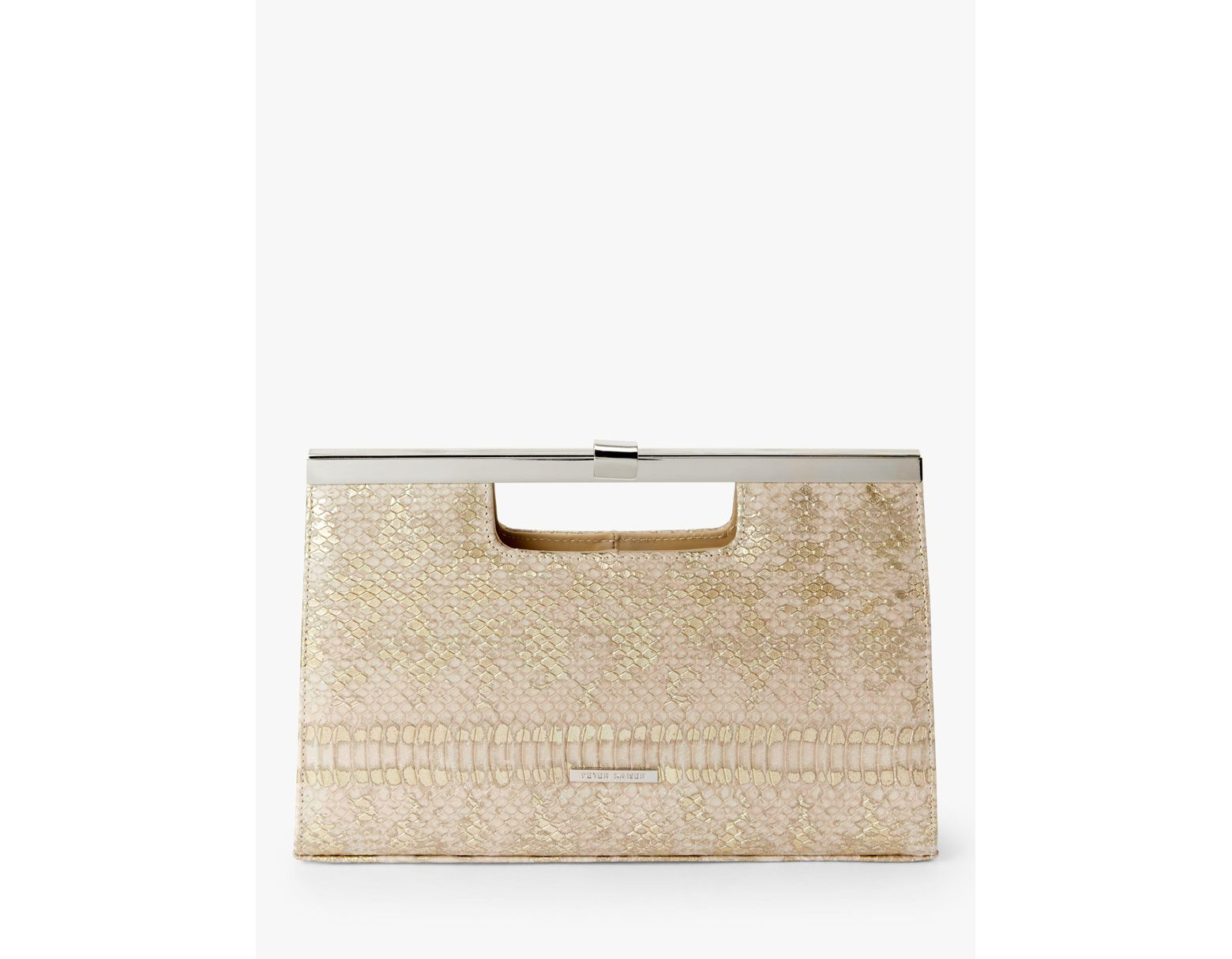 0801c7d0564 Peter Kaiser Wye Clutch Bag in Natural - Lyst