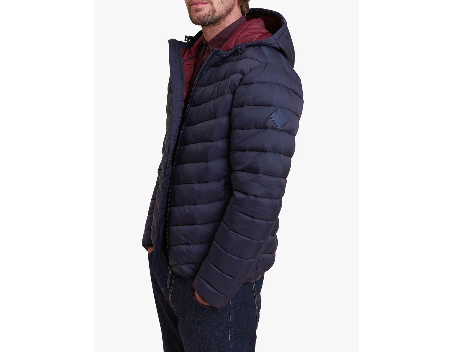 319b4f28b Men's Blue Chevron Quilted Jacket