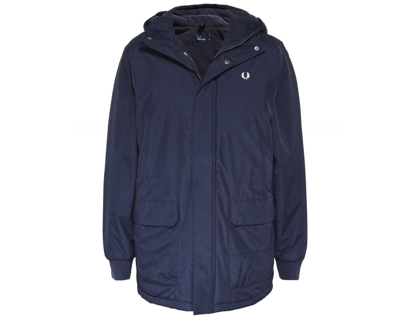 758ab005d8c2 Fred Perry Padded Stockport Parka in Blue for Men - Save 20% - Lyst