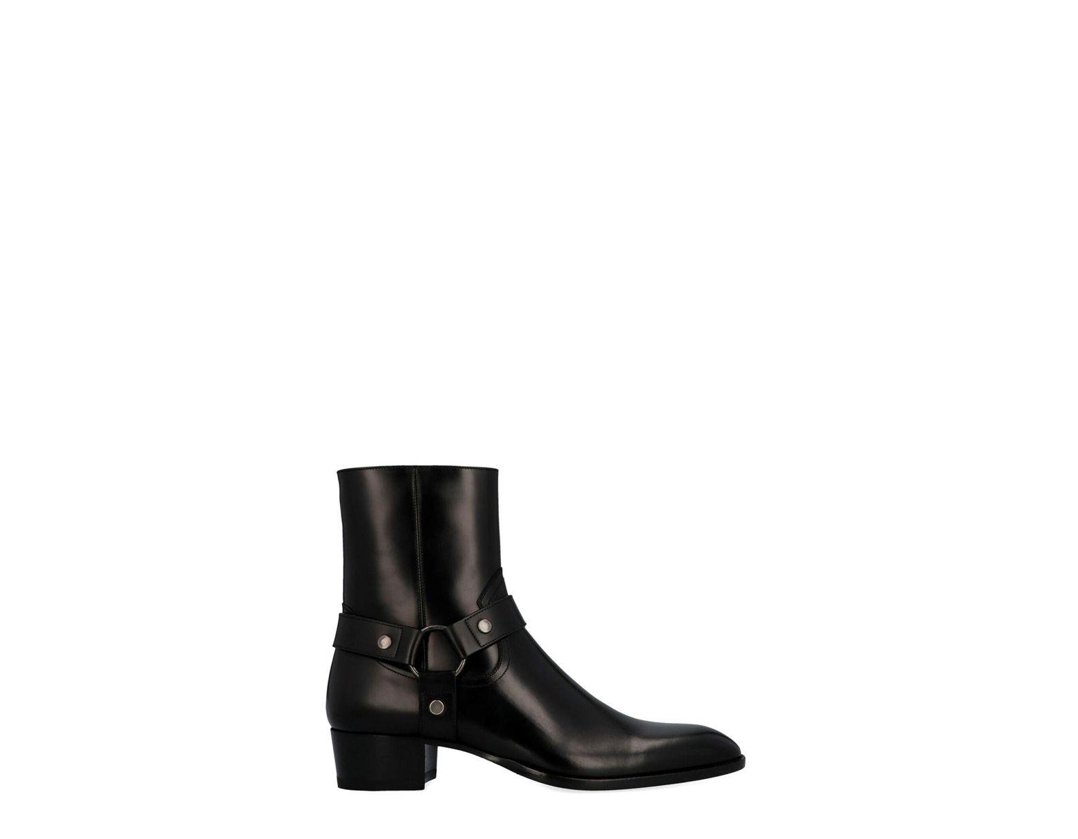 368318b5d81 Men's Black 'wyatt Harness' Ankle Boots