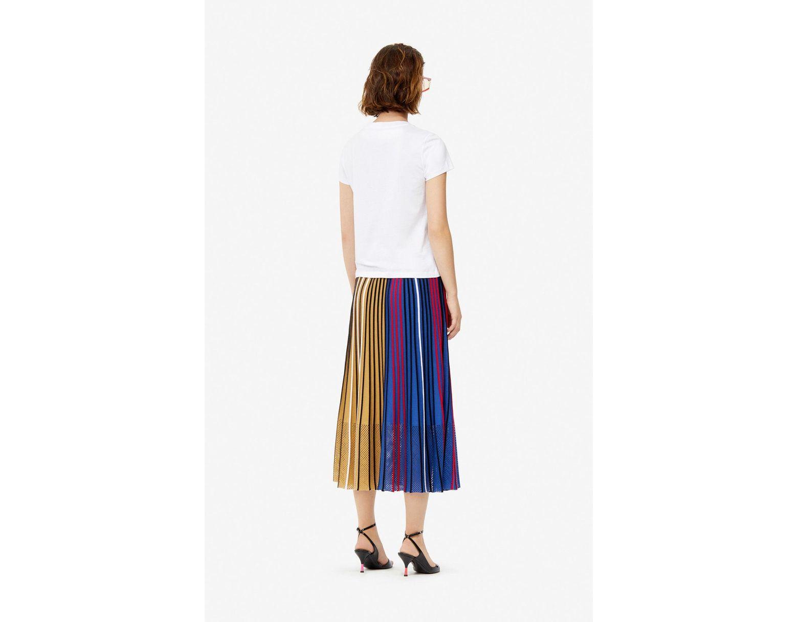 59fcd95591 Women's Pleated Colorblock Knit Skirt