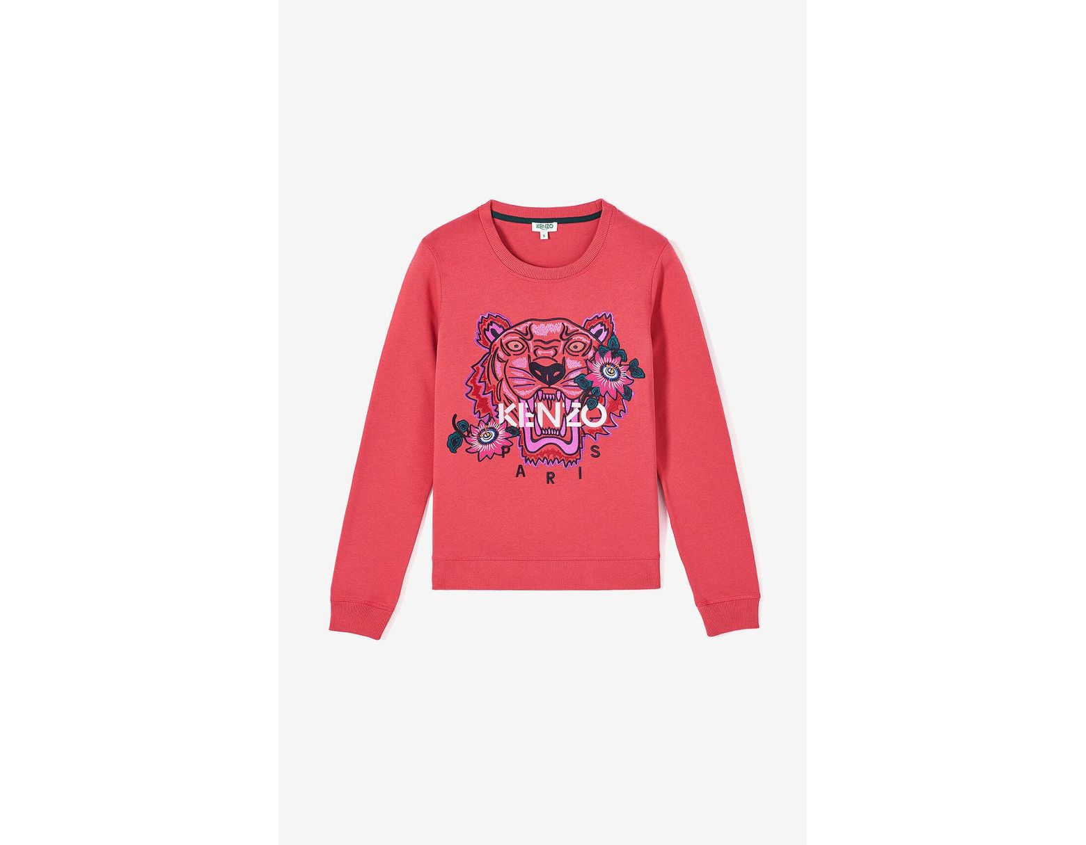 b90573a585 KENZO 'passion Flower' Tiger Sweatshirt in Red - Lyst