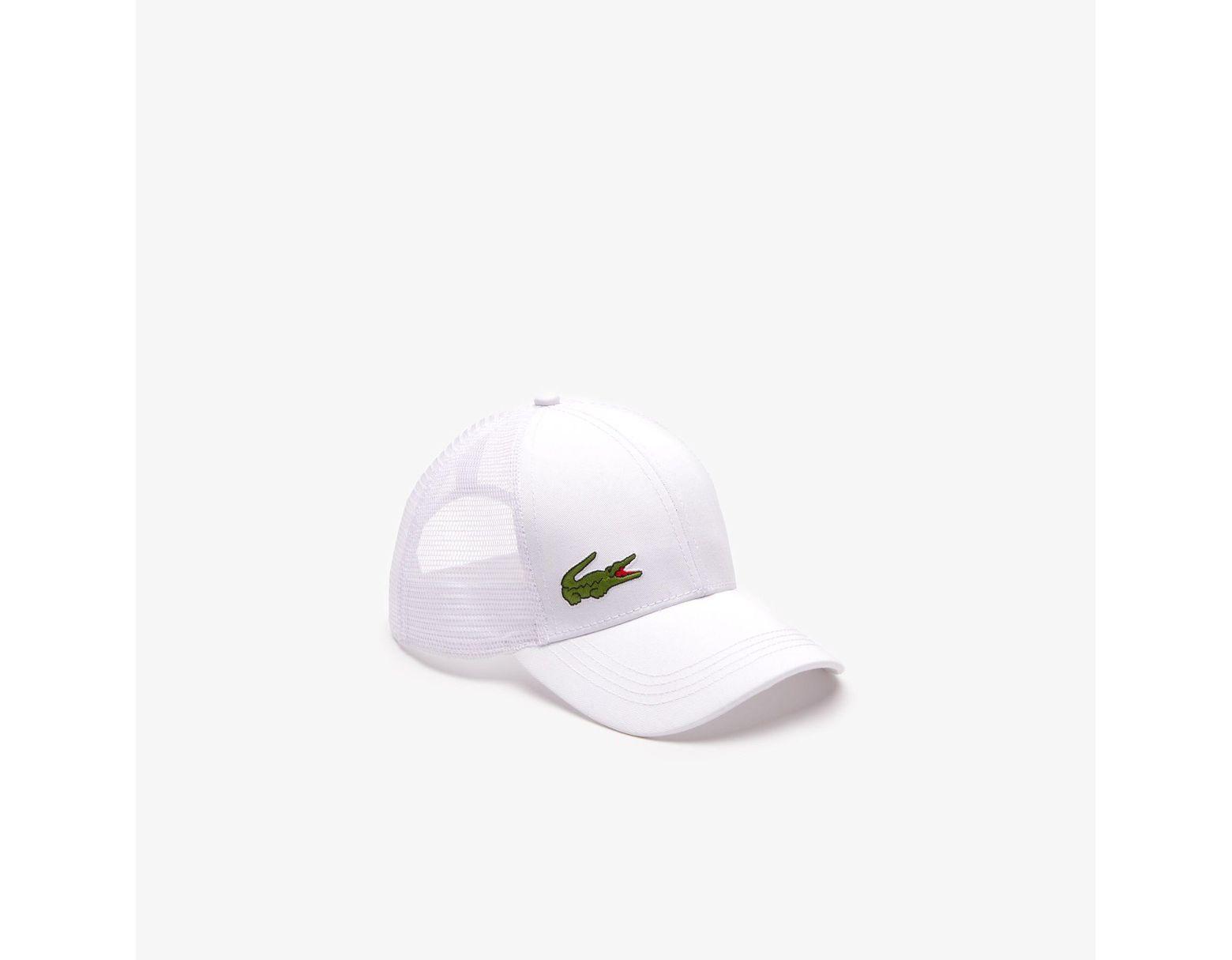 2e9fe008ee62b Lacoste Sport Gabardine And Mesh Tennis Cap in White for Men - Lyst