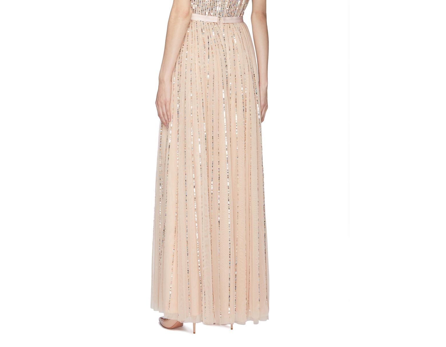 edd8d3e15c Needle & Thread 'shimmer Sequin' Pleated Tulle Maxi Skirt in Pink - Lyst