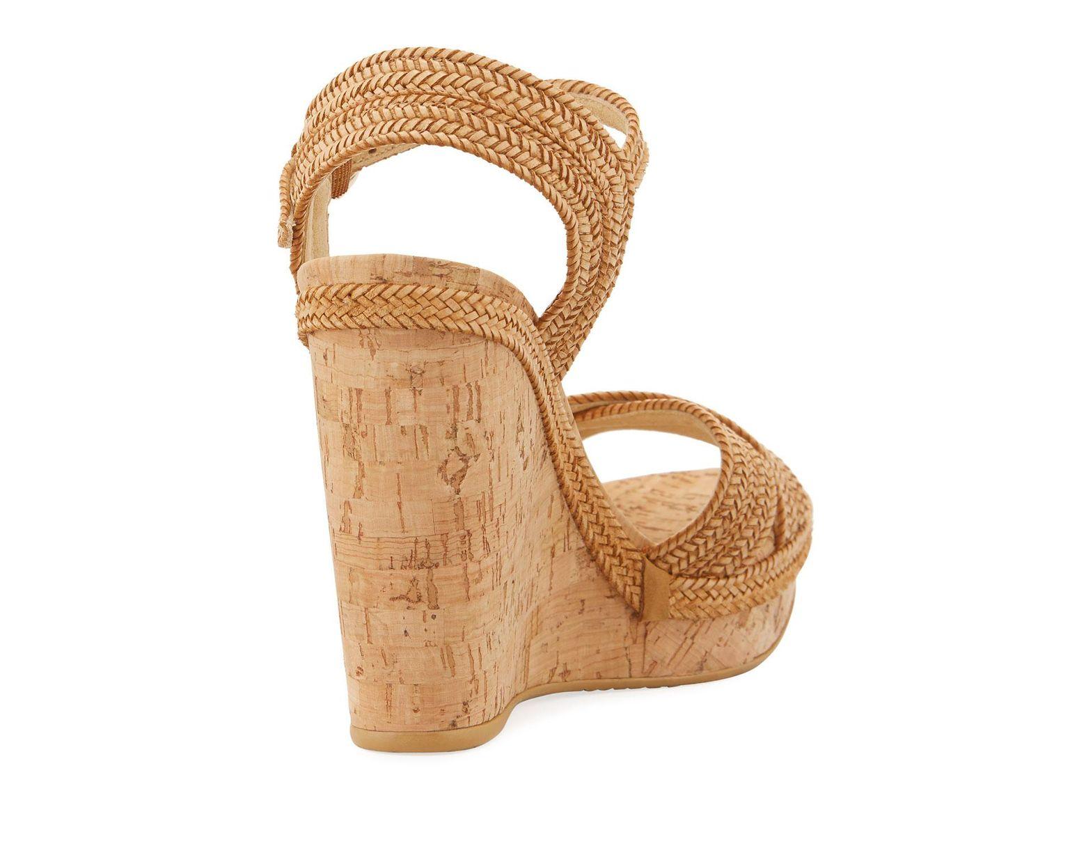 3d889e326bd Women's Natural Minx Woven Cork Wedge Sandals