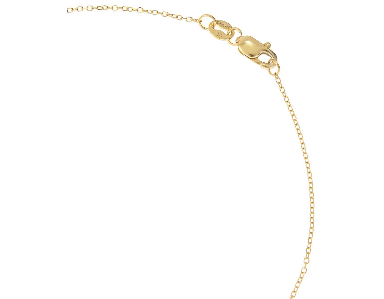 de899b91ed651 Women's Metallic Gold And Diamond Letter Y Disc Pendant Necklace