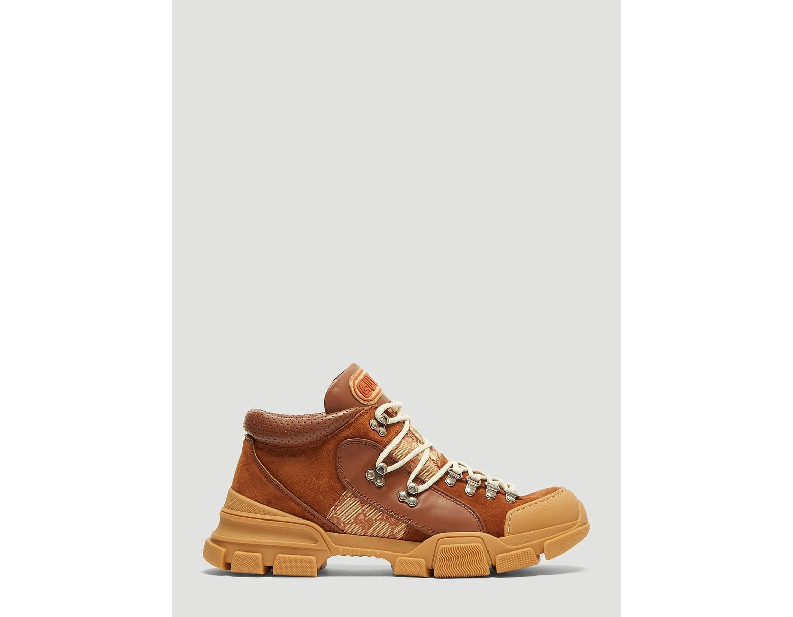 6d7d38f11 Gucci Leather And Original GG High-top Sneaker in Brown for Men - Save 40%  - Lyst