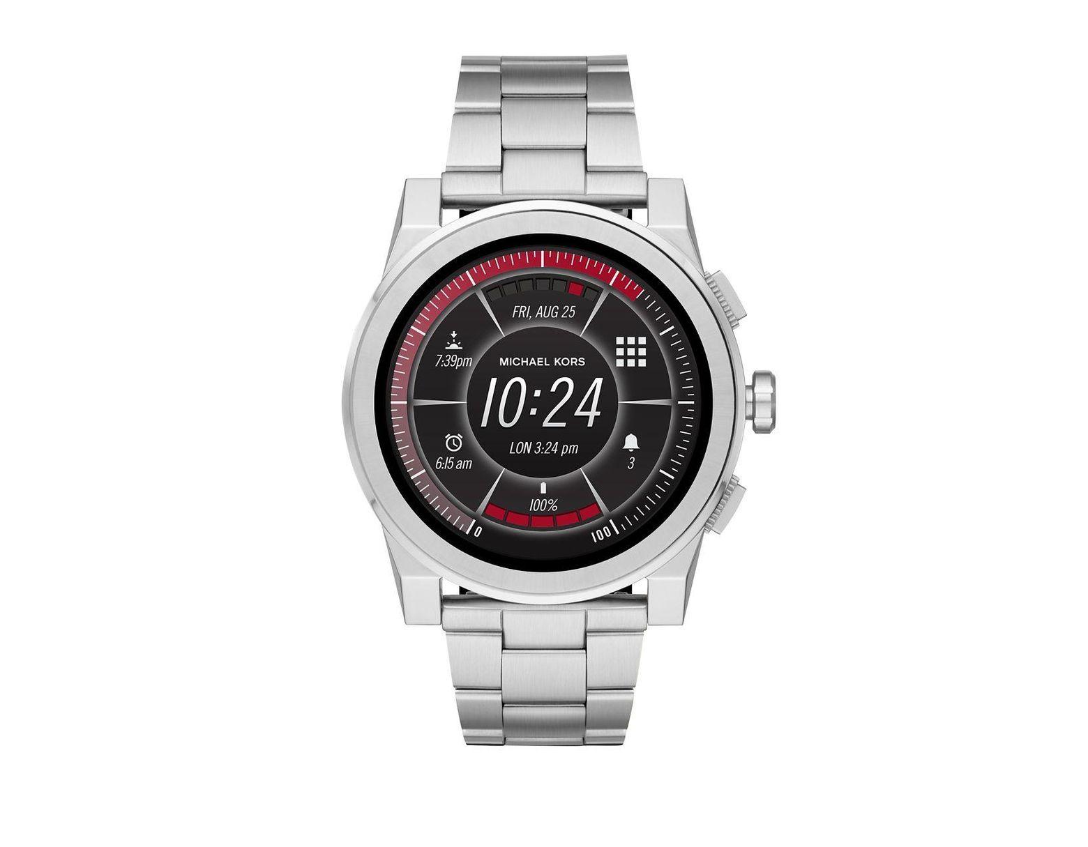 04be2a80a2cd Lyst - Michael Kors Access Grayson Stainless Steel Touchscreen Bracelet  Smart Watch in Metallic - Save 29%