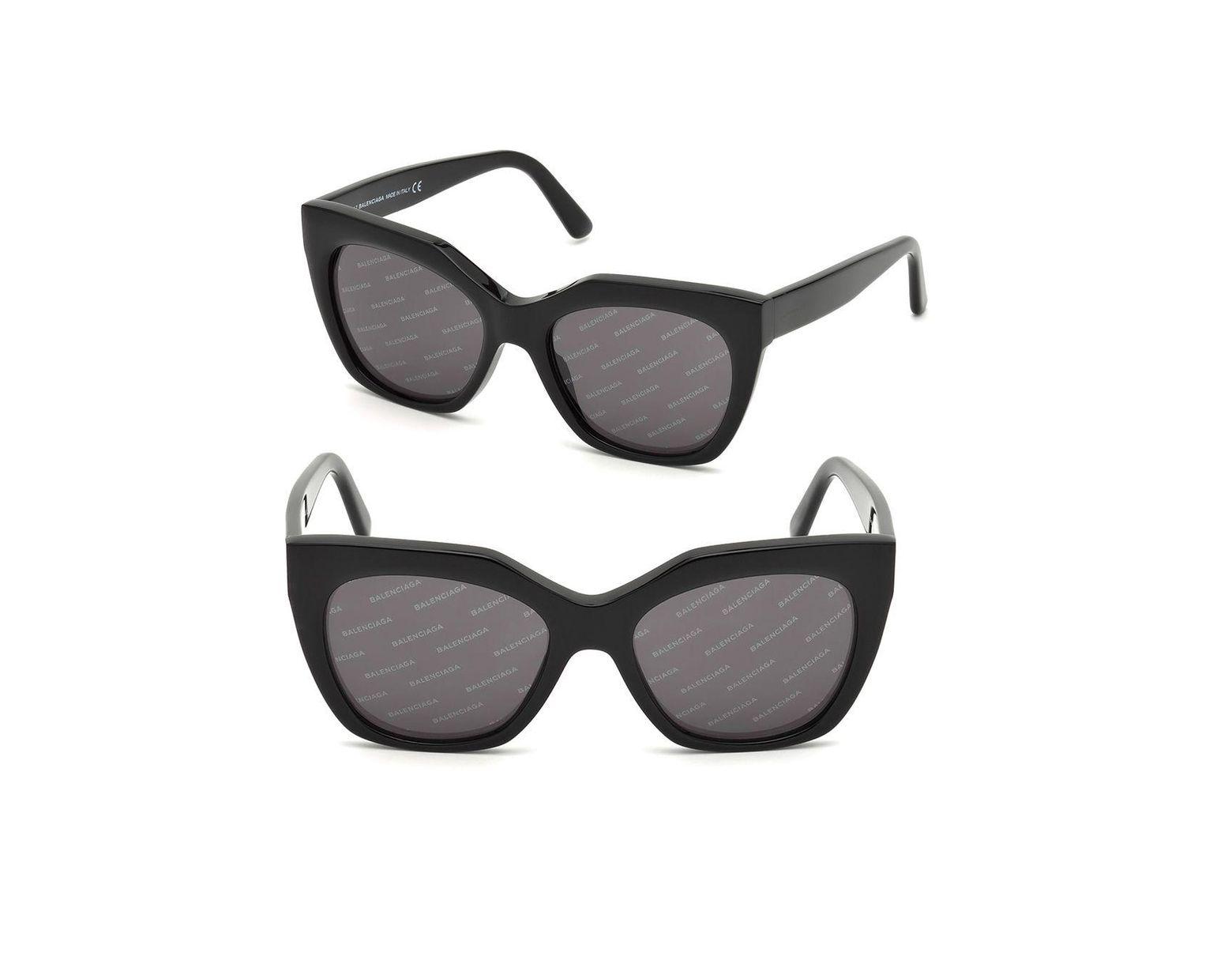 39d1e34af0a3 Balenciaga Soft Square Sunglasses in Black - Save 75% - Lyst