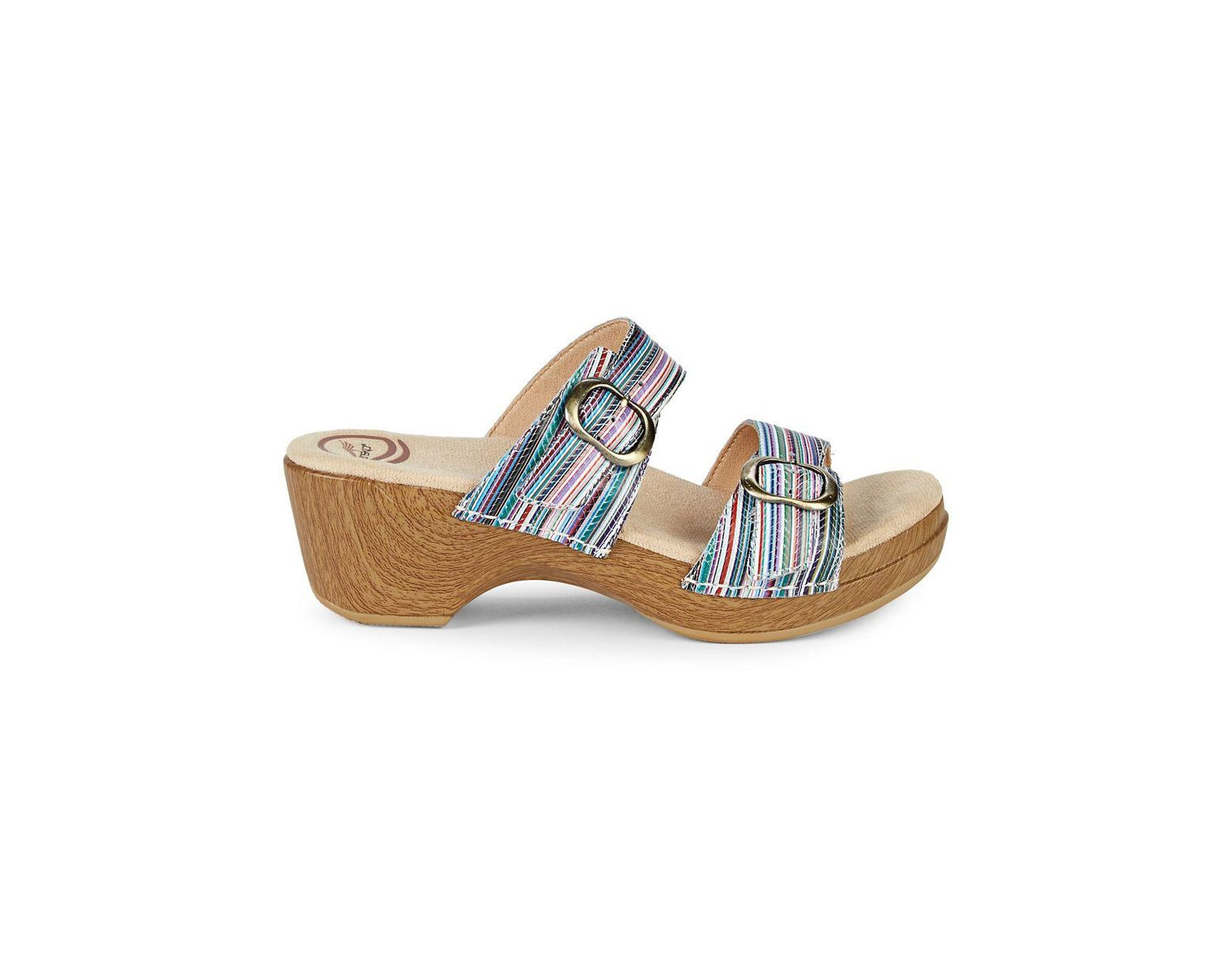 Women's Clog Blue Striped Sandals Sophie Multi nN0Ovm8w