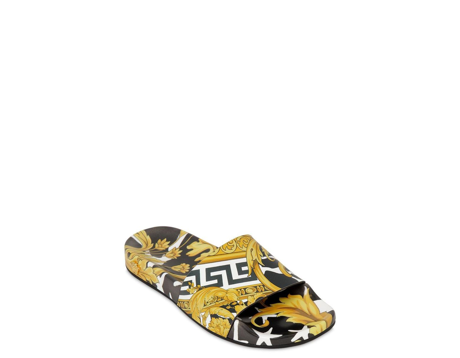 893612068c4 Versace 20mm Printed Rubber Slide Sandals - Lyst