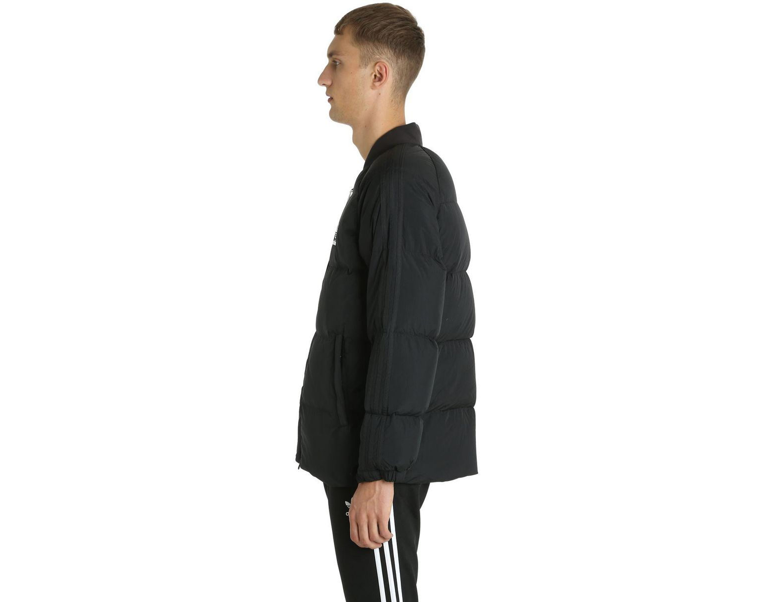 66c86acd9 Lyst - adidas Originals Sst Logo Padded Bomber Jacket in Black for Men
