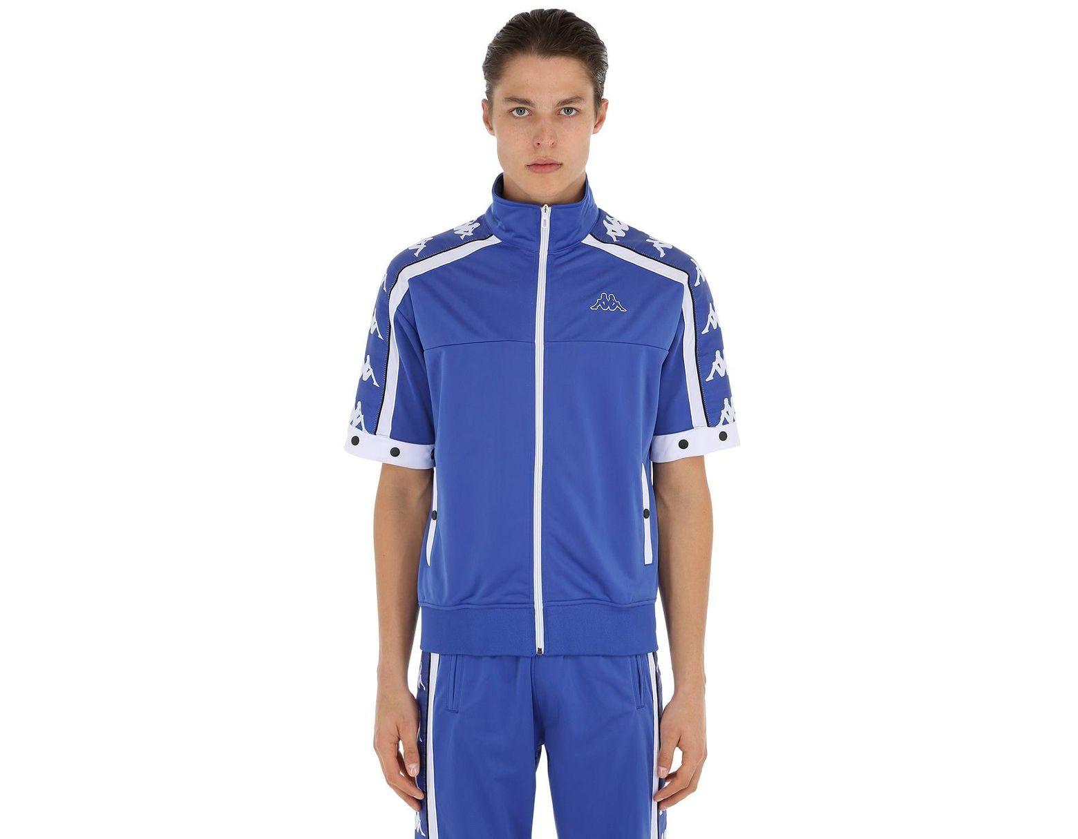 Veste De Survêtement Avec Manches Amovibles homme de coloris bleu