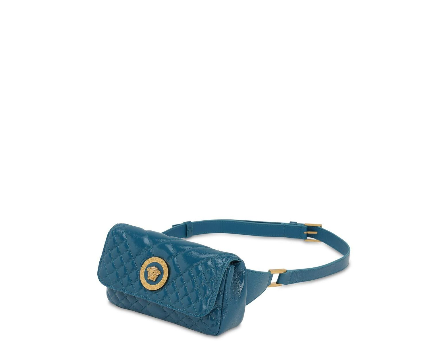 2cfe56007c Women's Blue Icon Quilted Patent Leather Belt Bag