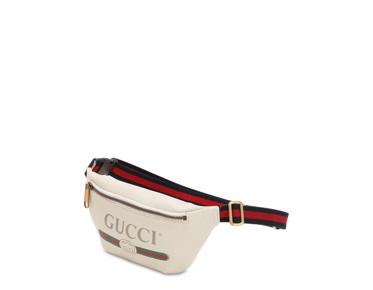 95e9130a21e Lyst - Gucci Small Vintage Logo Leather Belt Bag in White for Men