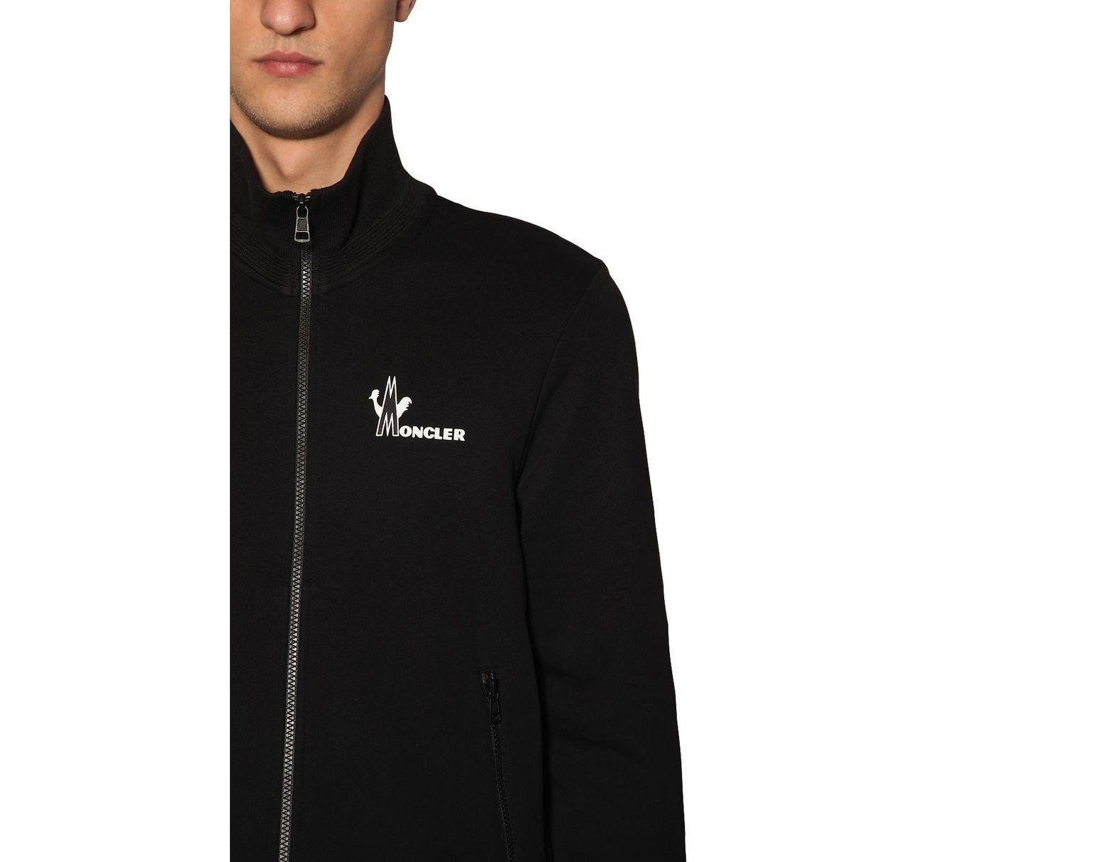 37242e222 Men's Black Zip Up Cotton Blend Sweatshirt Hoodie