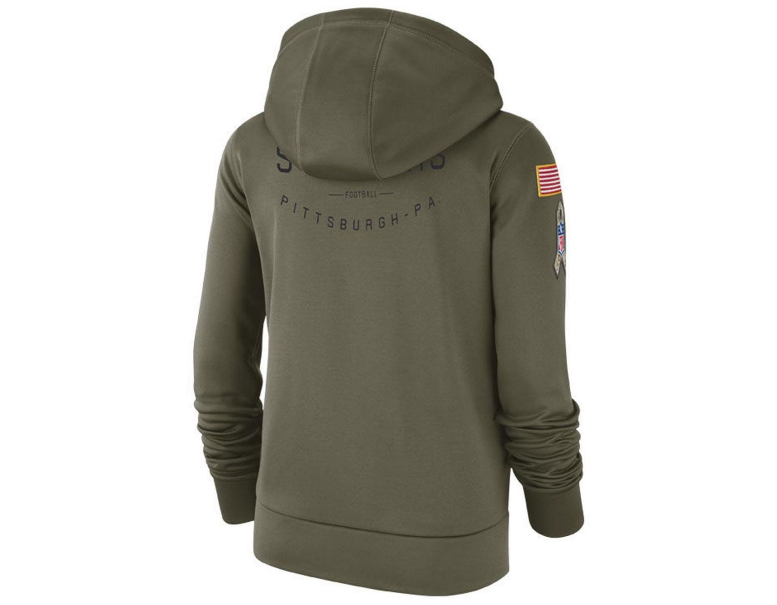 f719e1e2 Nike Pittsburgh Steelers Salute To Service Therma Hoodie in Green - Lyst