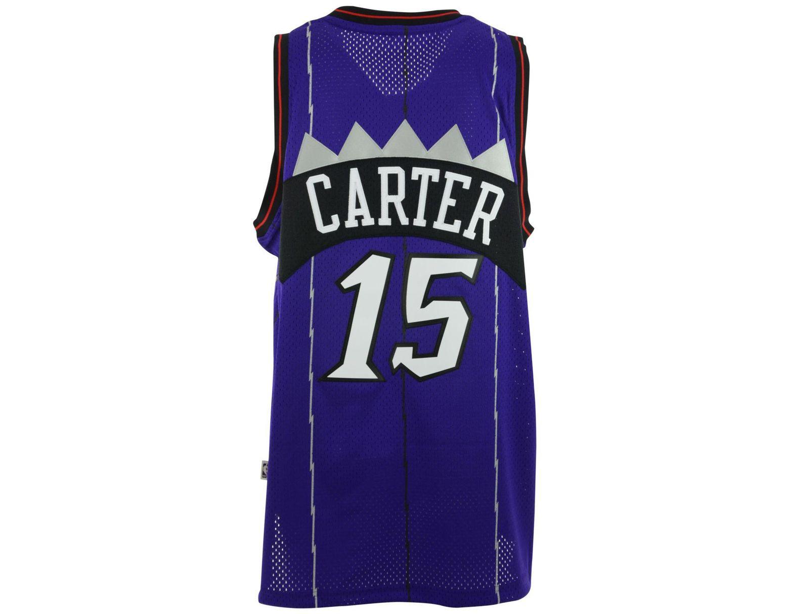 8a8b2958e0f adidas Men s Vince Carter Toronto Raptors Swingman Jersey in Purple for Men  - Lyst