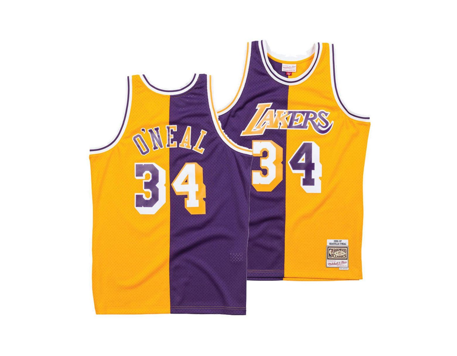 44e279003 Mitchell   Ness Shaquille O neal Los Angeles Lakers Split Swingman Jersey  in Purple for Men - Lyst