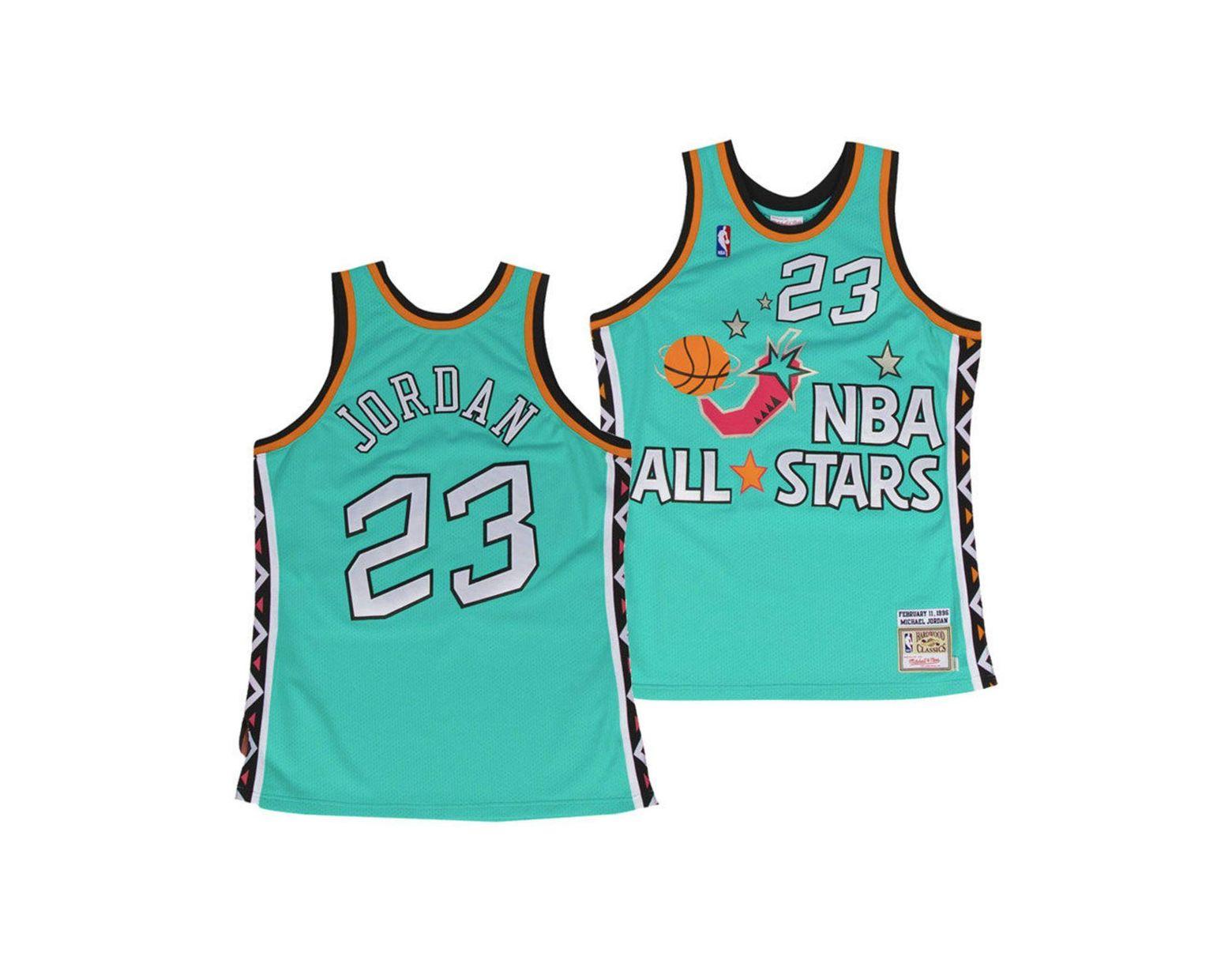timeless design 70fbc 13835 Men's Blue Michael Jordan 1996 Nba All Star Authentic Jersey