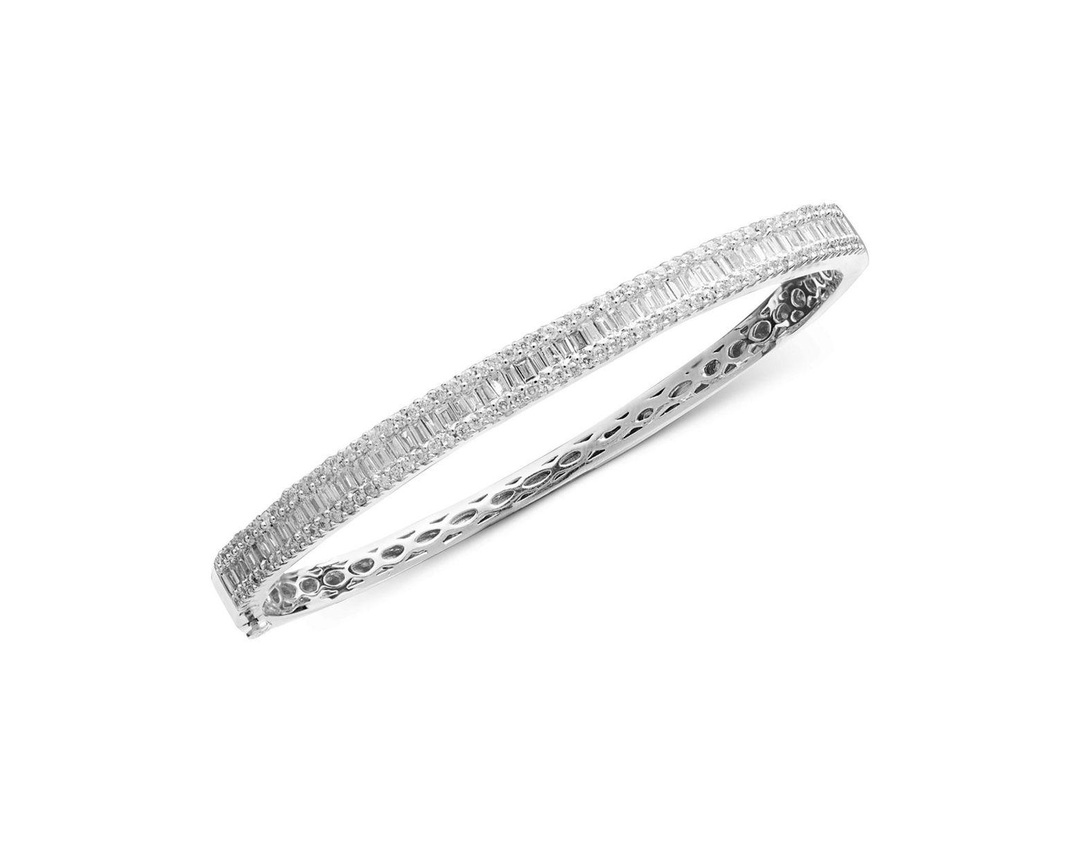 729986c48 Effy Collection Diamond Diamond Bangle In 14k White Gold (1-9/10 Ct. T.w.)  in Metallic - Save 45% - Lyst