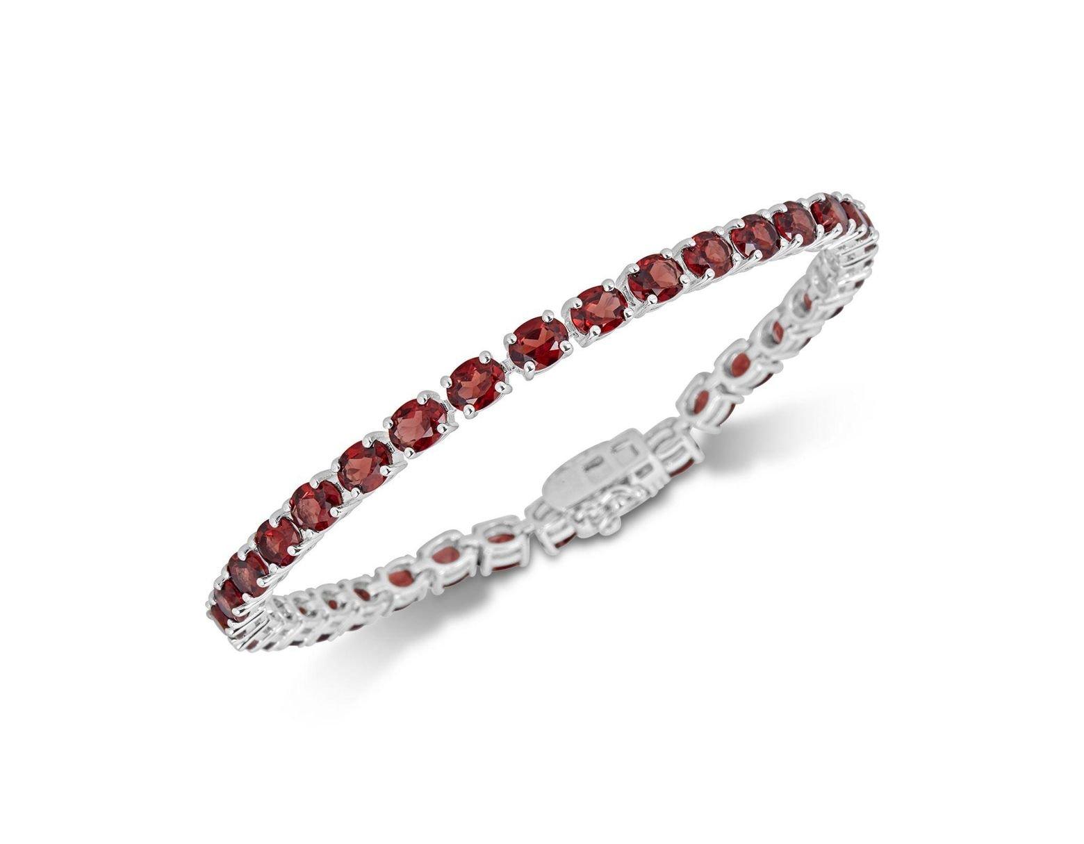 8207ab01991c5 Women's Metallic Rhodolite Garnet Link Bracelet (4 Ct. T.w.) In Sterling  Silver