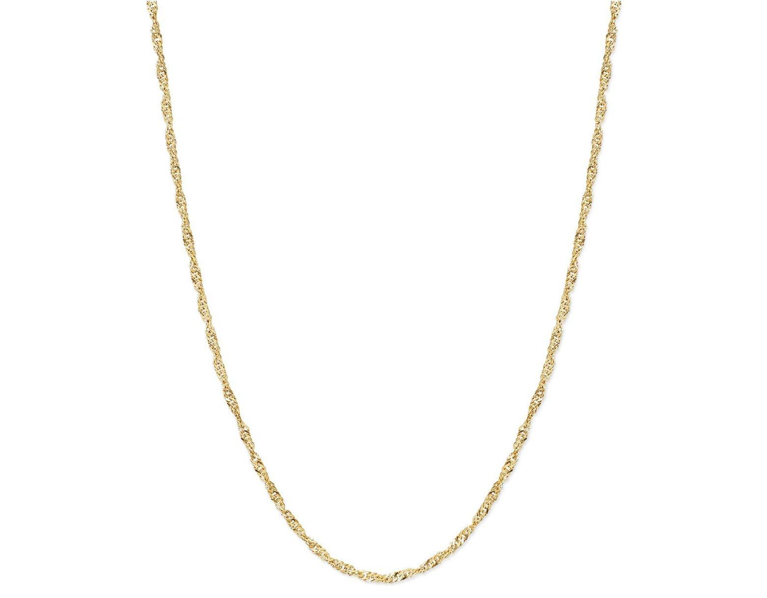 fa14639f74a6e Women's Metallic 14k Gold Necklace, 24