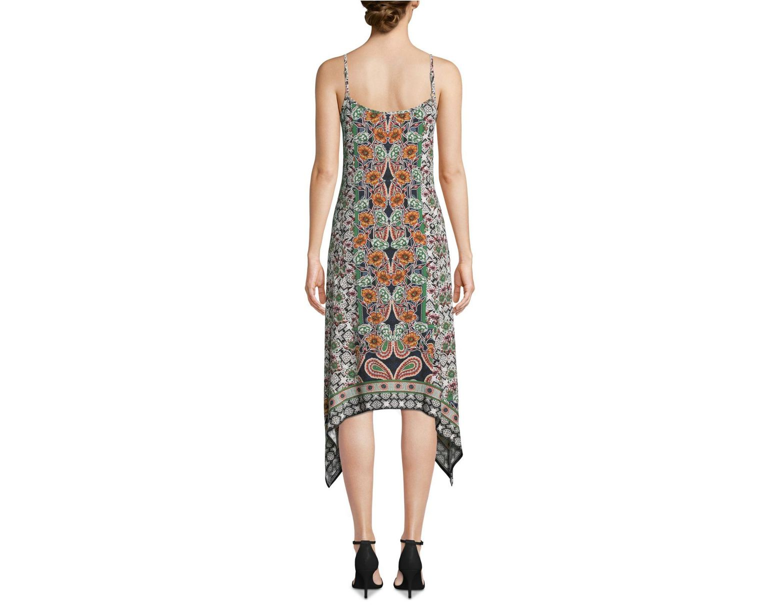 a338bdb6b9 Eci Paisley-print Slip Dress in Green - Lyst