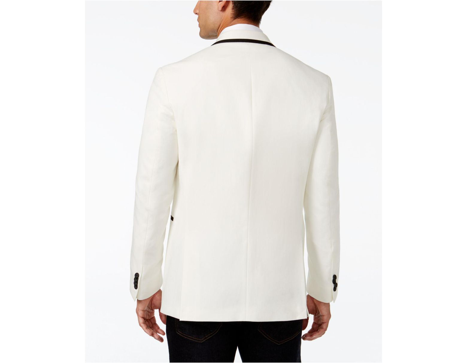 7b7ecfcbc Men's White Slim Fit Evening Blazer
