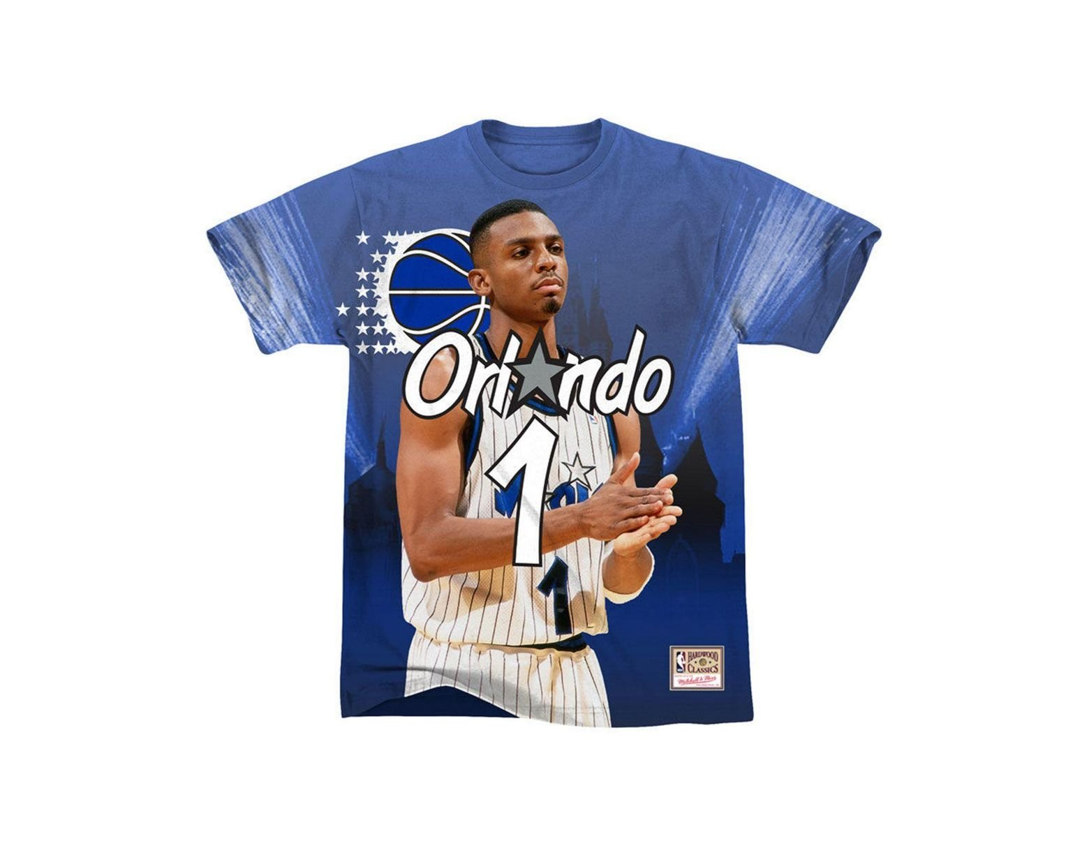 newest 72f85 319de Men's Blue Penny Hardaway Orlando Magic City Pride Name And Number T-shirt